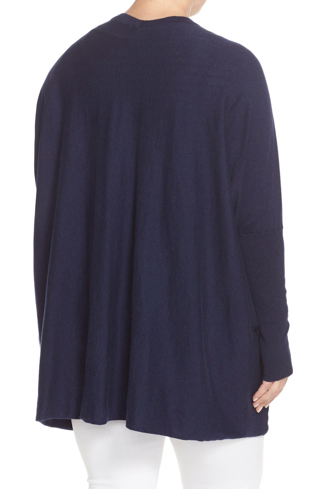'Darma' Cotton & Cashmere Knit Cardigan,                             Alternate thumbnail 2, color,                             Melange Navy