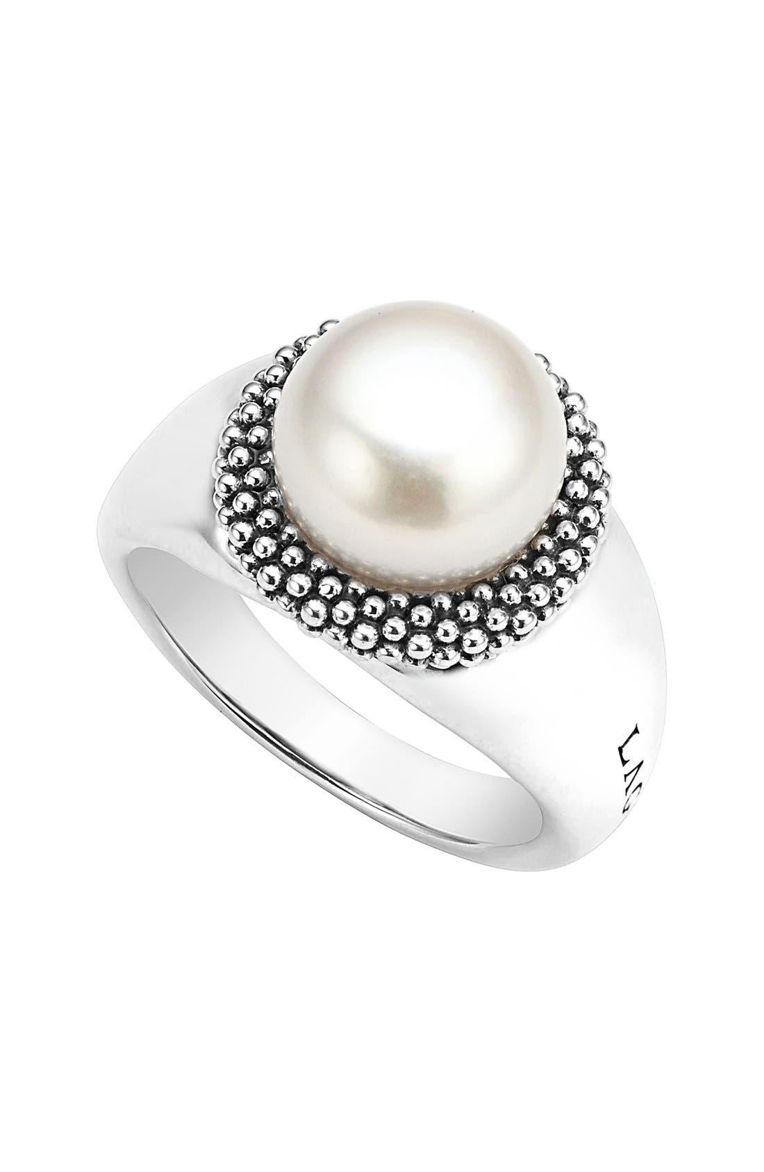 LAGOS Luna Large Pearl Ring