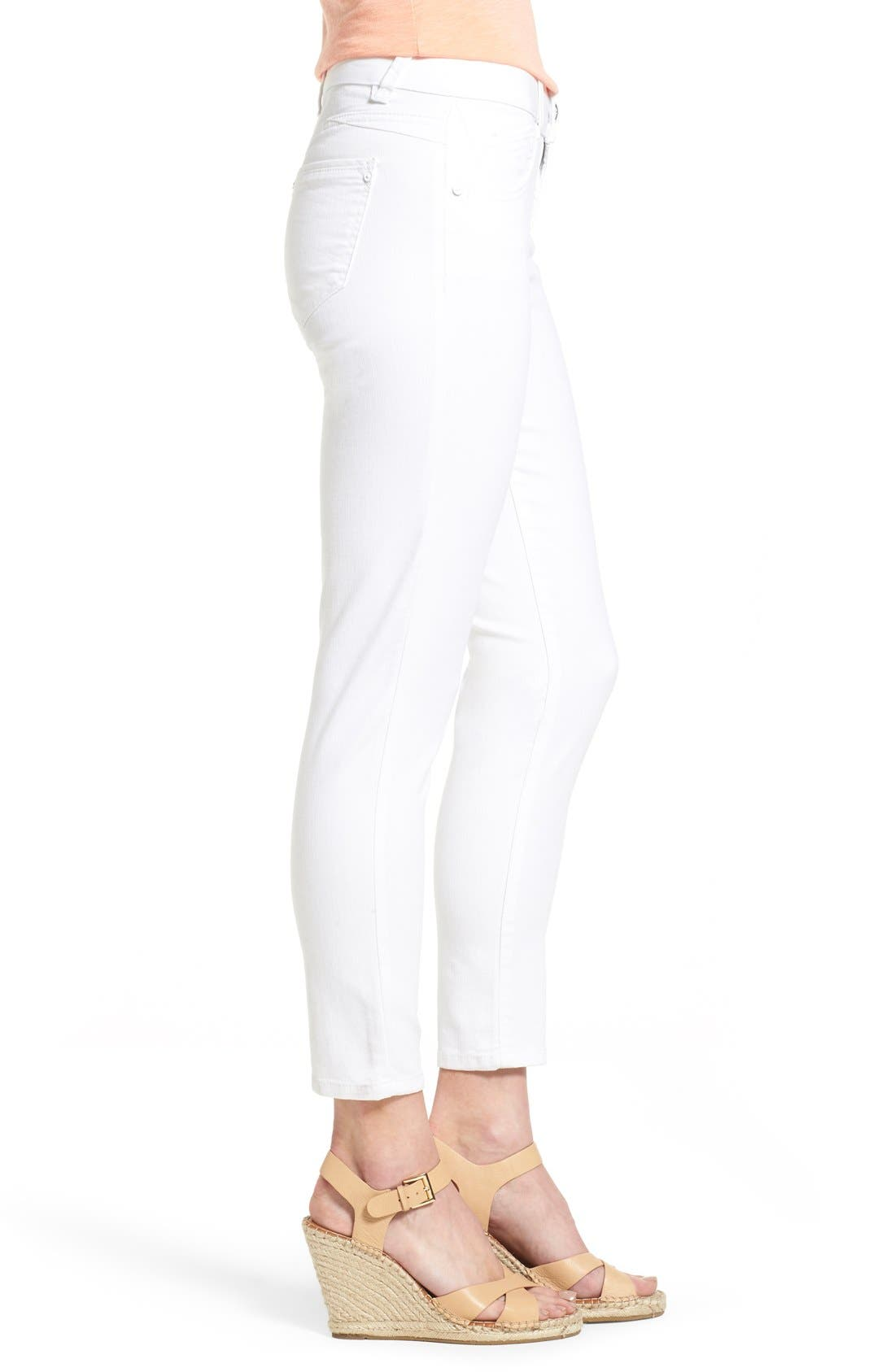 Alternate Image 4  - Wit & Wisdom Ab-solution Stretch Ankle Skinny Jeans (Optic White) (Nordstrom Exclusive)