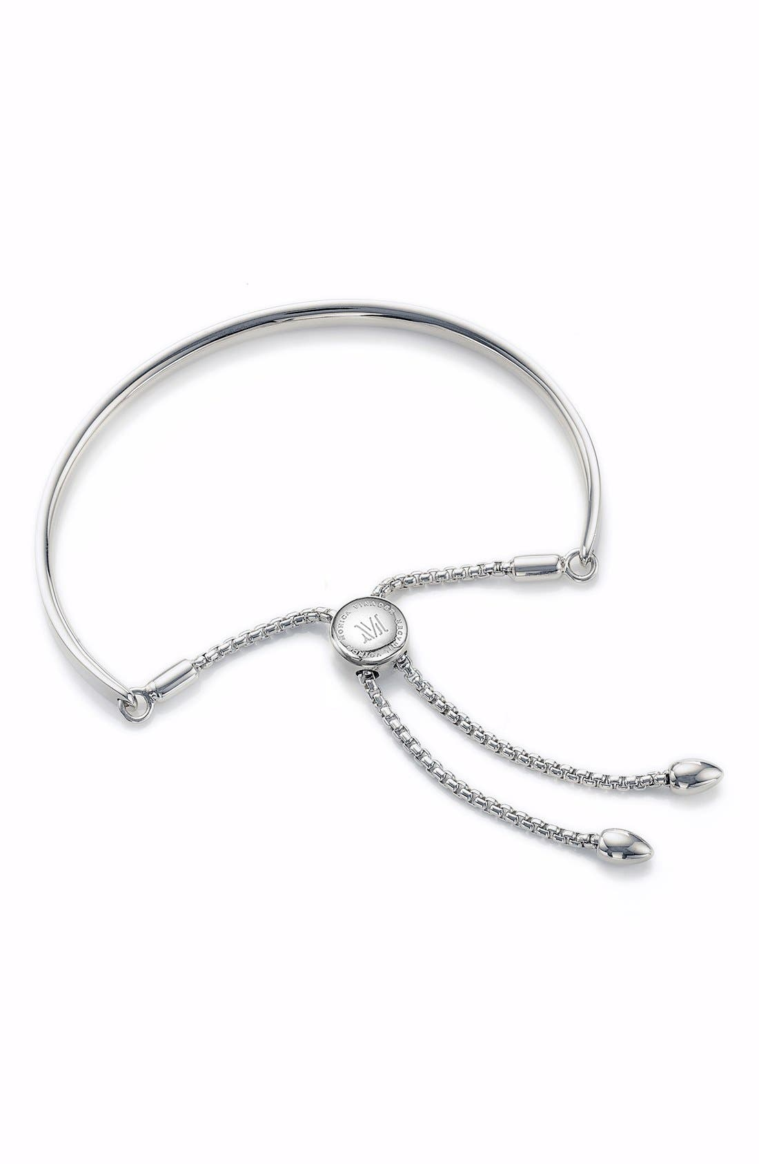 Fiji Petite Friendship Bracelet,                             Main thumbnail 1, color,                             Silver
