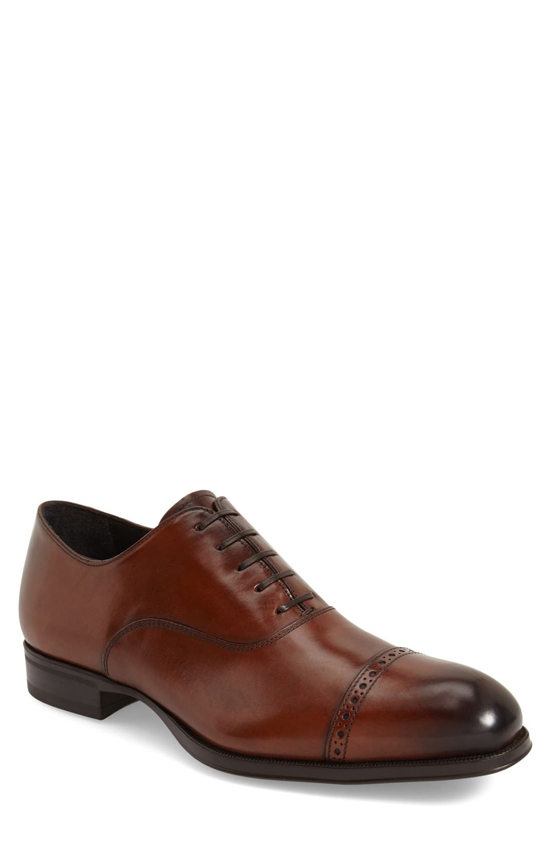 'Derek' Cap Toe Oxford,                         Main,                         color, Tan