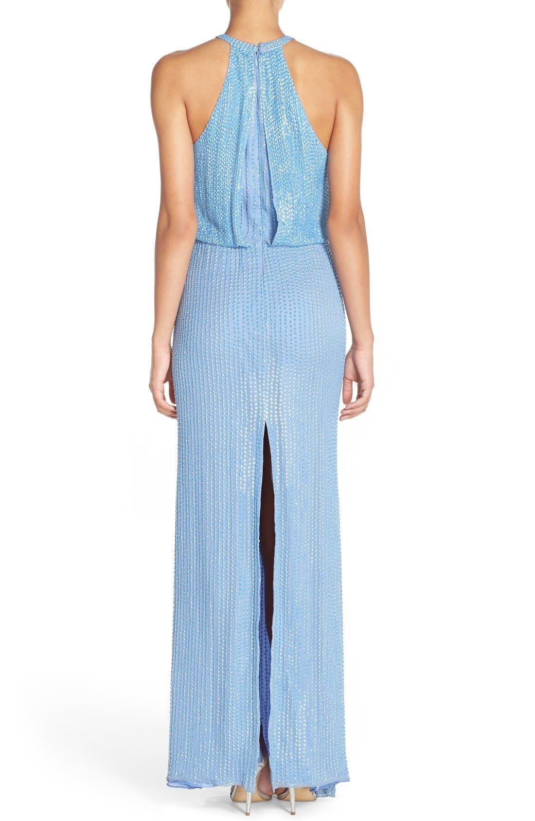 Alternate Image 2  - Parker 'Marceline' Beaded Blouson Gown