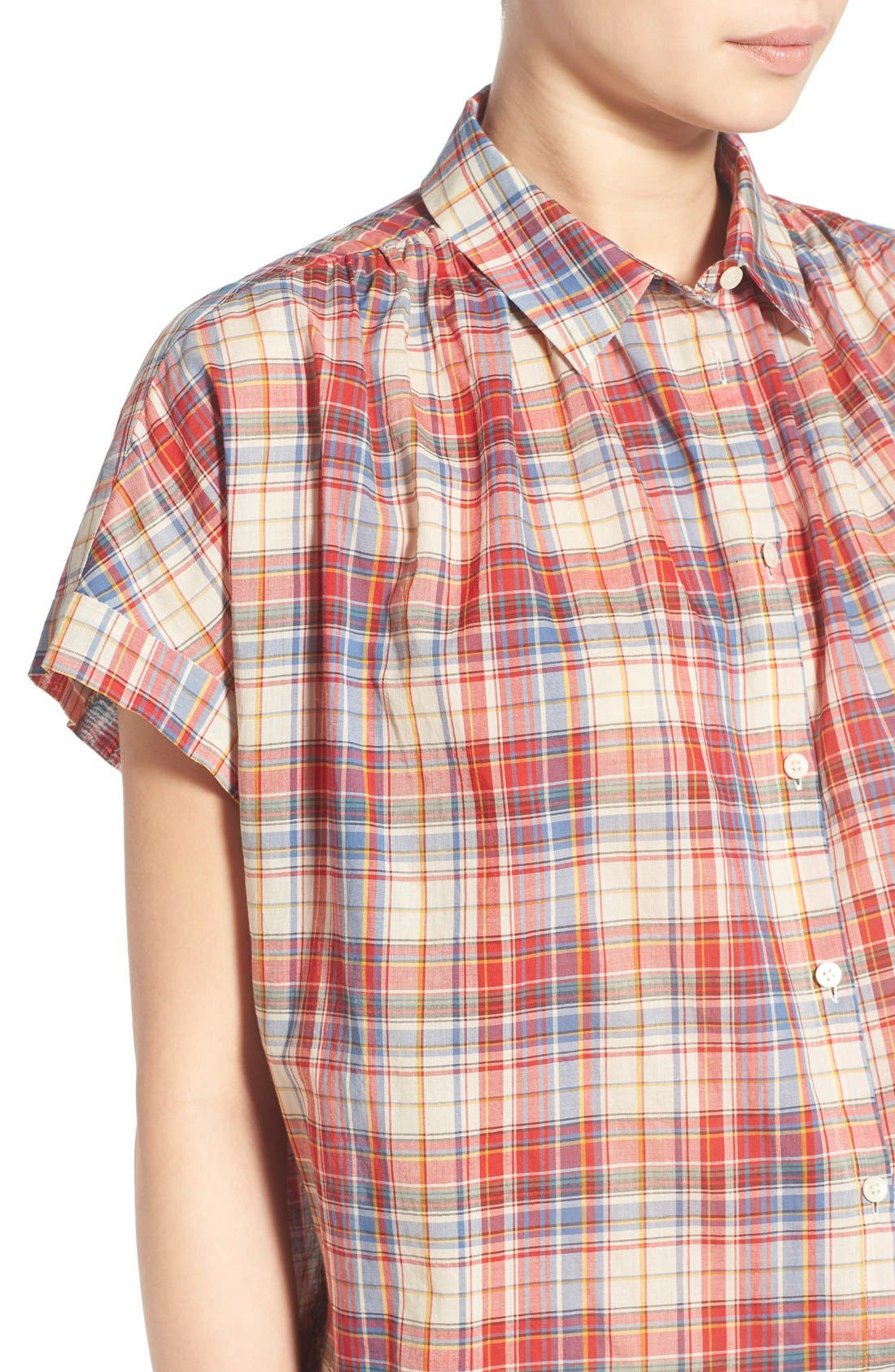 Alternate Image 4  - Madewell Plaid Boxy Cotton Shirt