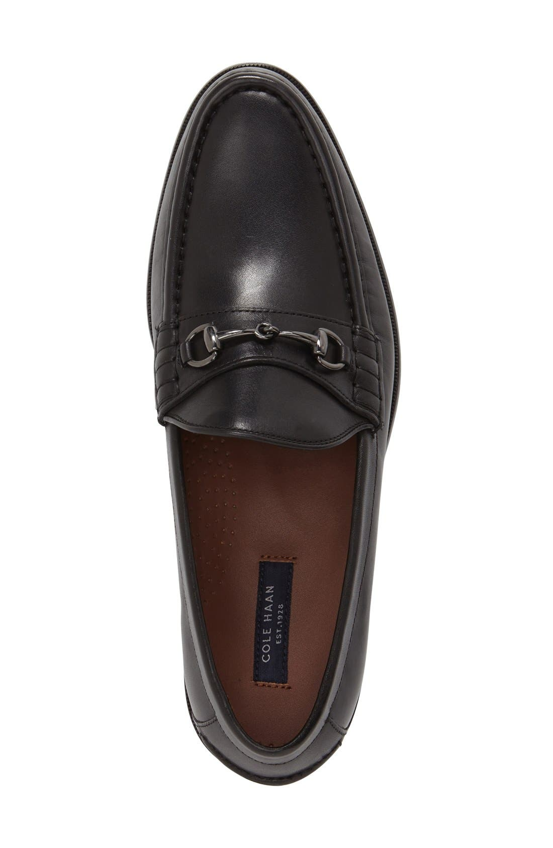 Pinch Gotham Bit Loafer,                             Alternate thumbnail 3, color,                             Black Leather