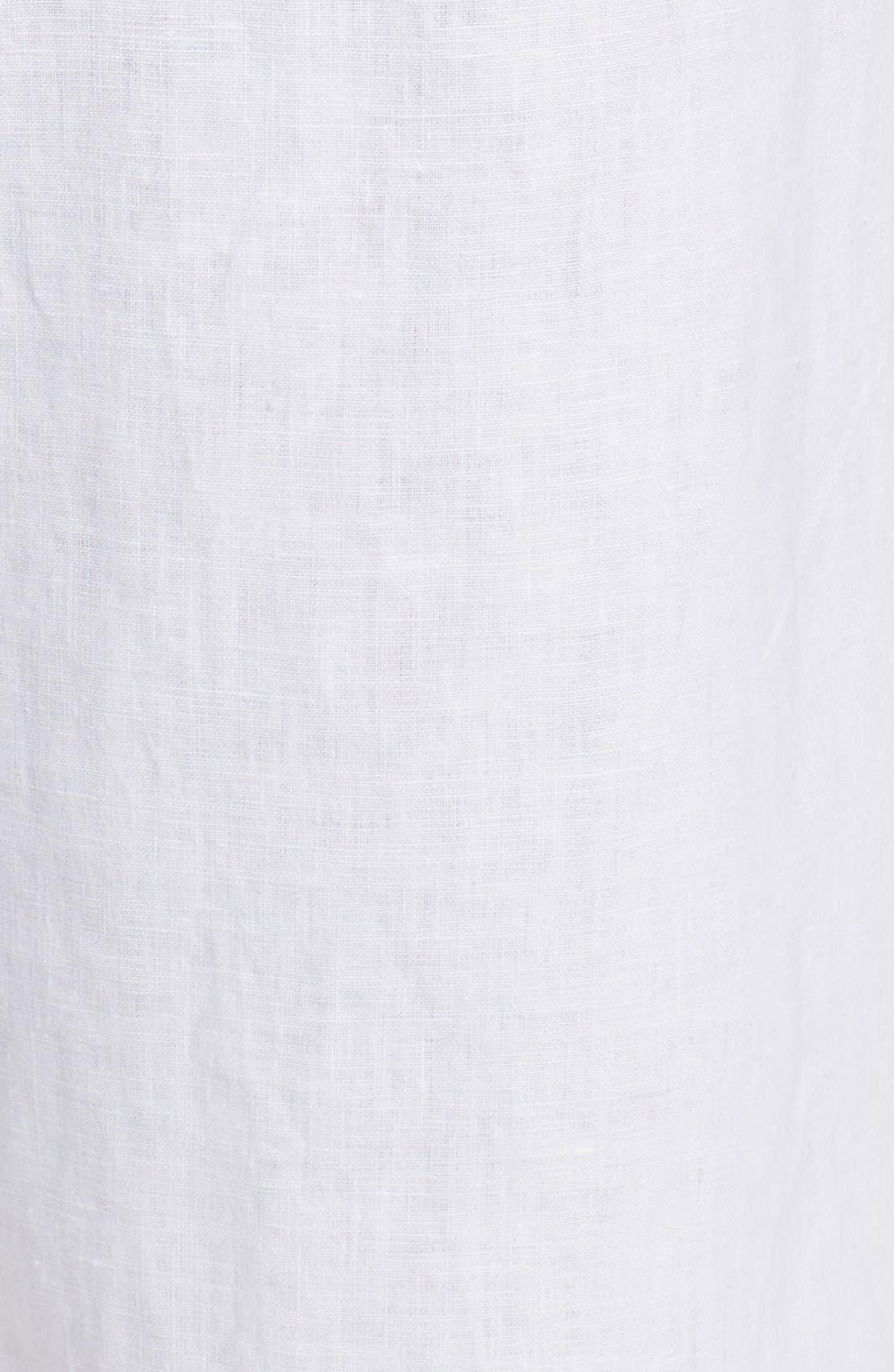 Alternate Image 6  - Caslon® Drawstring Linen Pants (Plus Size)