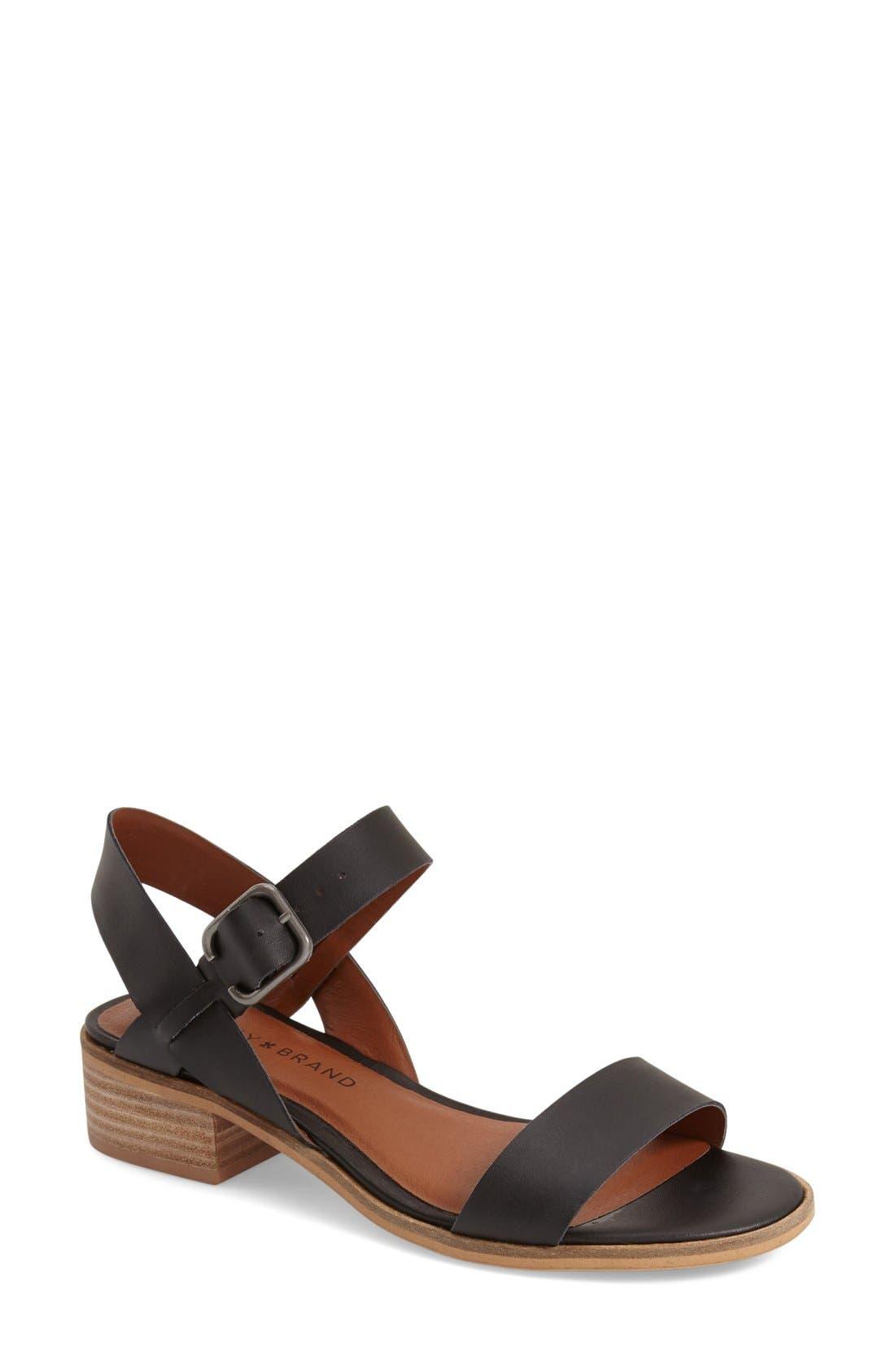 Alternate Image 1 Selected - Lucky Brand 'Toni' Stacked Heel Sandal (Women)