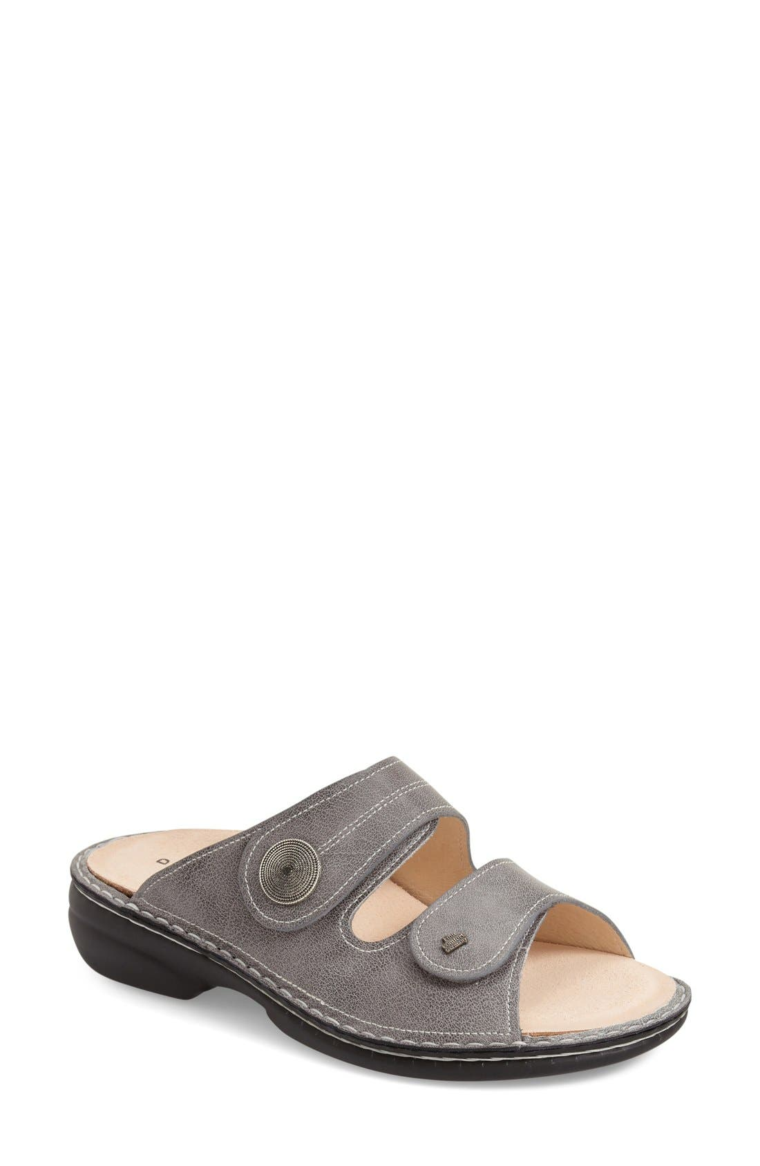 'Sansibar' Sandal,                             Main thumbnail 1, color,                             Grey Nappa Leather