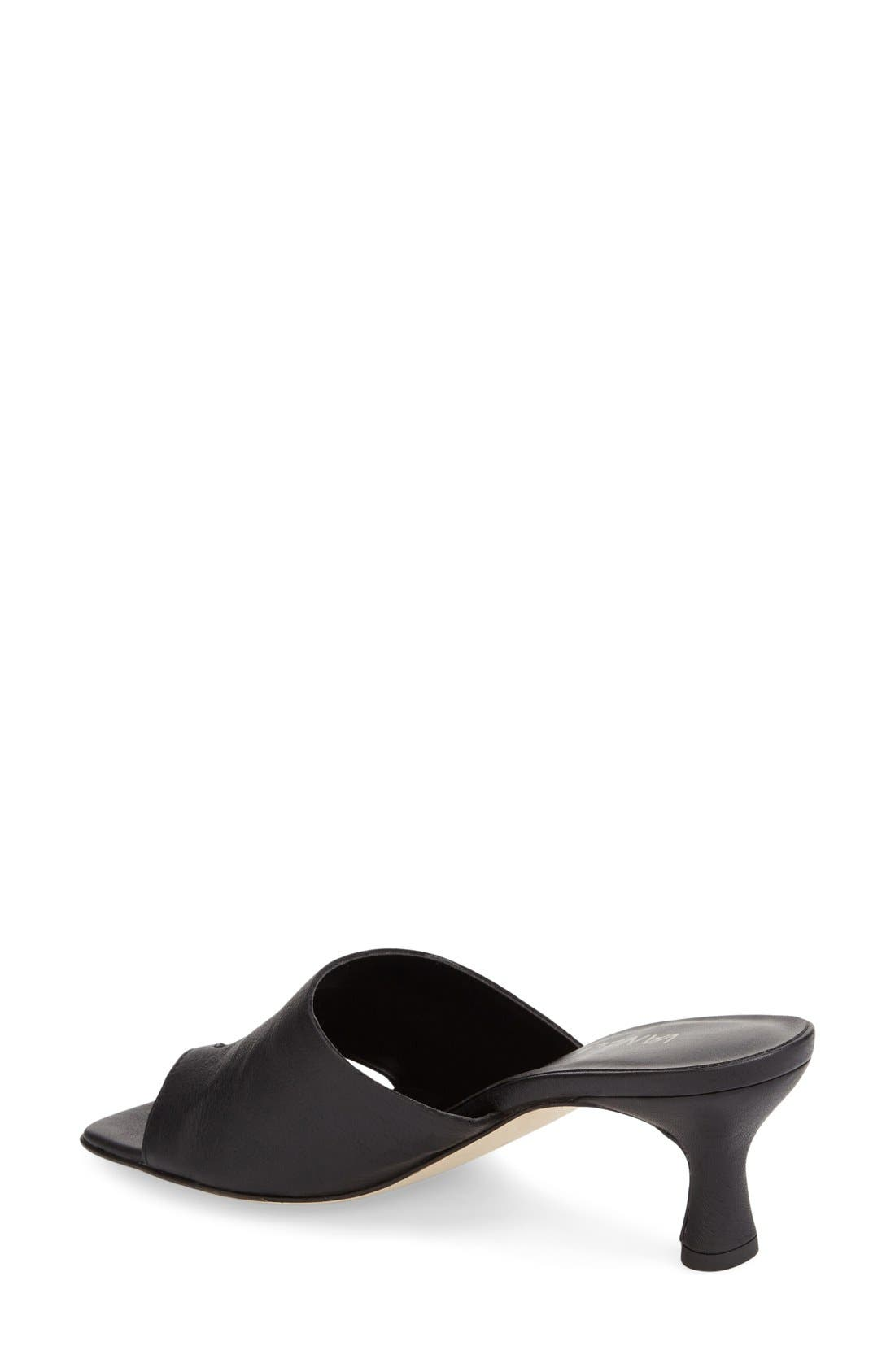 'Melea' Slide Sandal,                             Alternate thumbnail 2, color,                             Black Sweta Calf