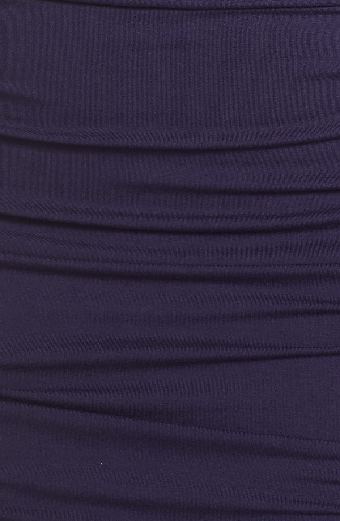 Side Ruched Jersey Midi Dress,                             Alternate thumbnail 5, color,                             Evening Navy