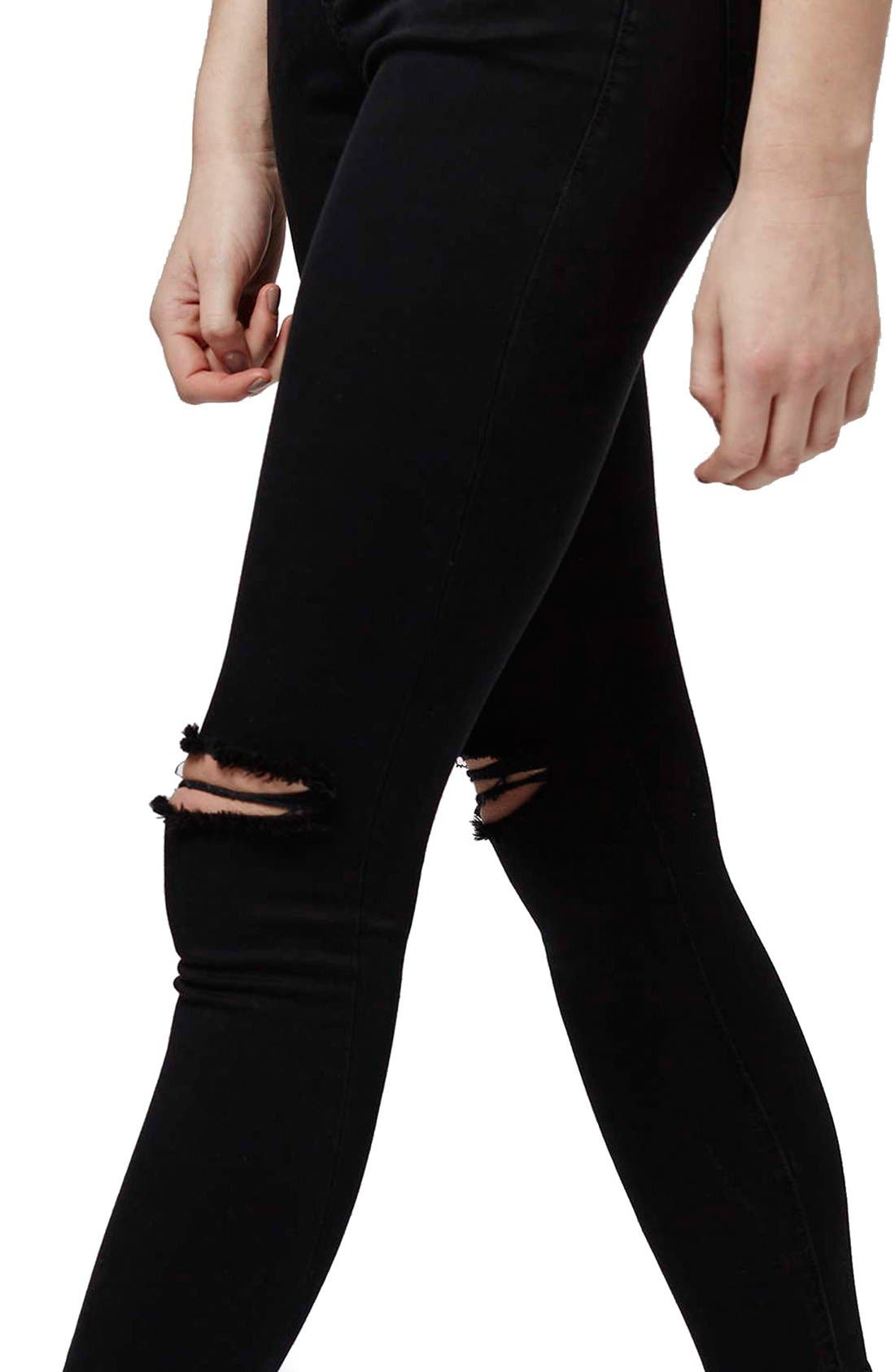 Alternate Image 5  - Topshop 'Leigh' Ripped Skinny Jeans (Petite)