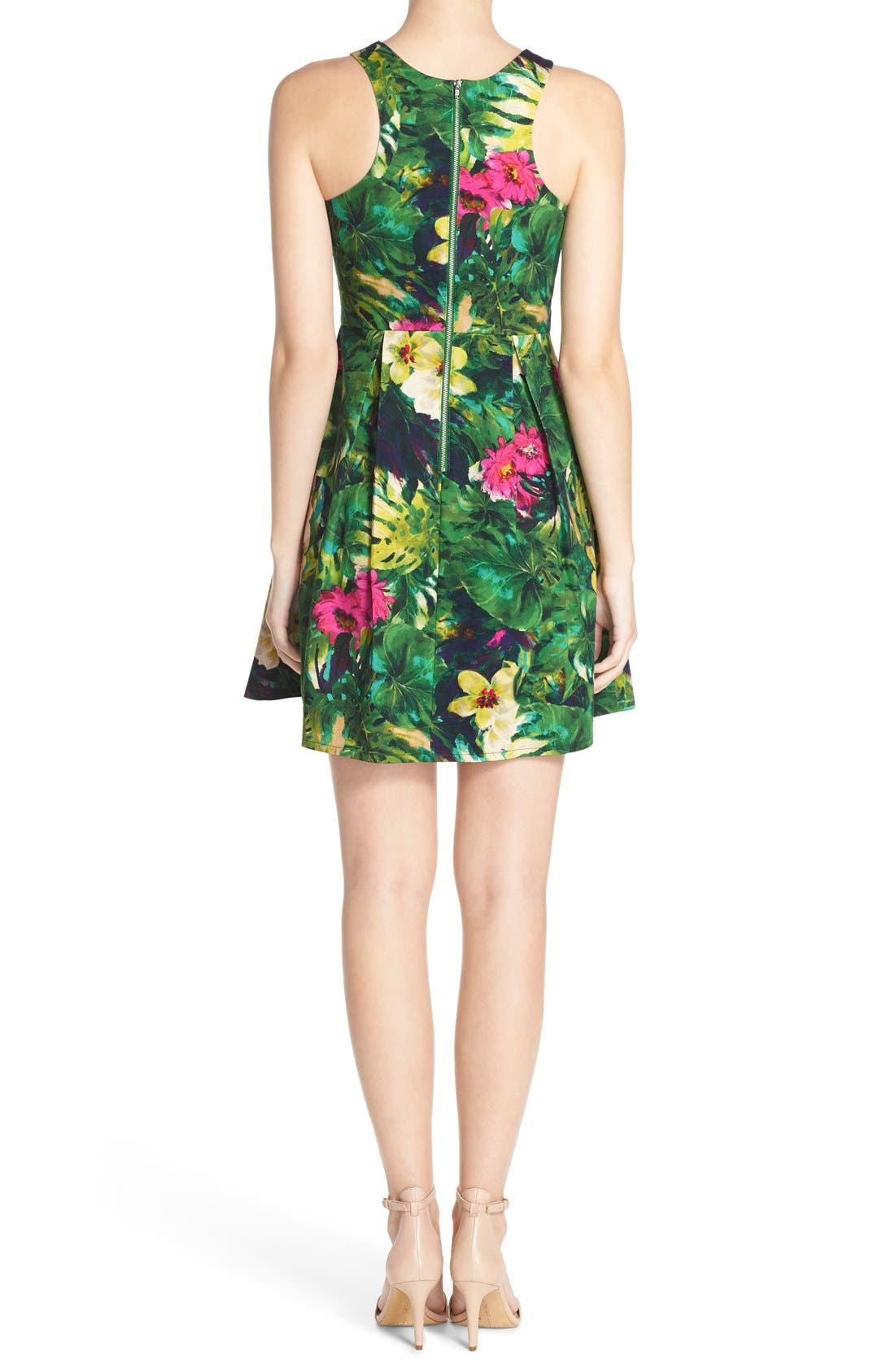 Alternate Image 2  - Felicity & Coco Floral Print Fit & Flare Dress (Regular & Petite) (Nordstrom Exclusive)