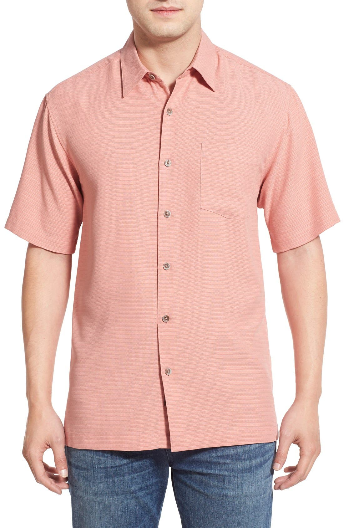 'Wind N Sea' Regular Fit Sport Shirt,                             Main thumbnail 1, color,                             Coral