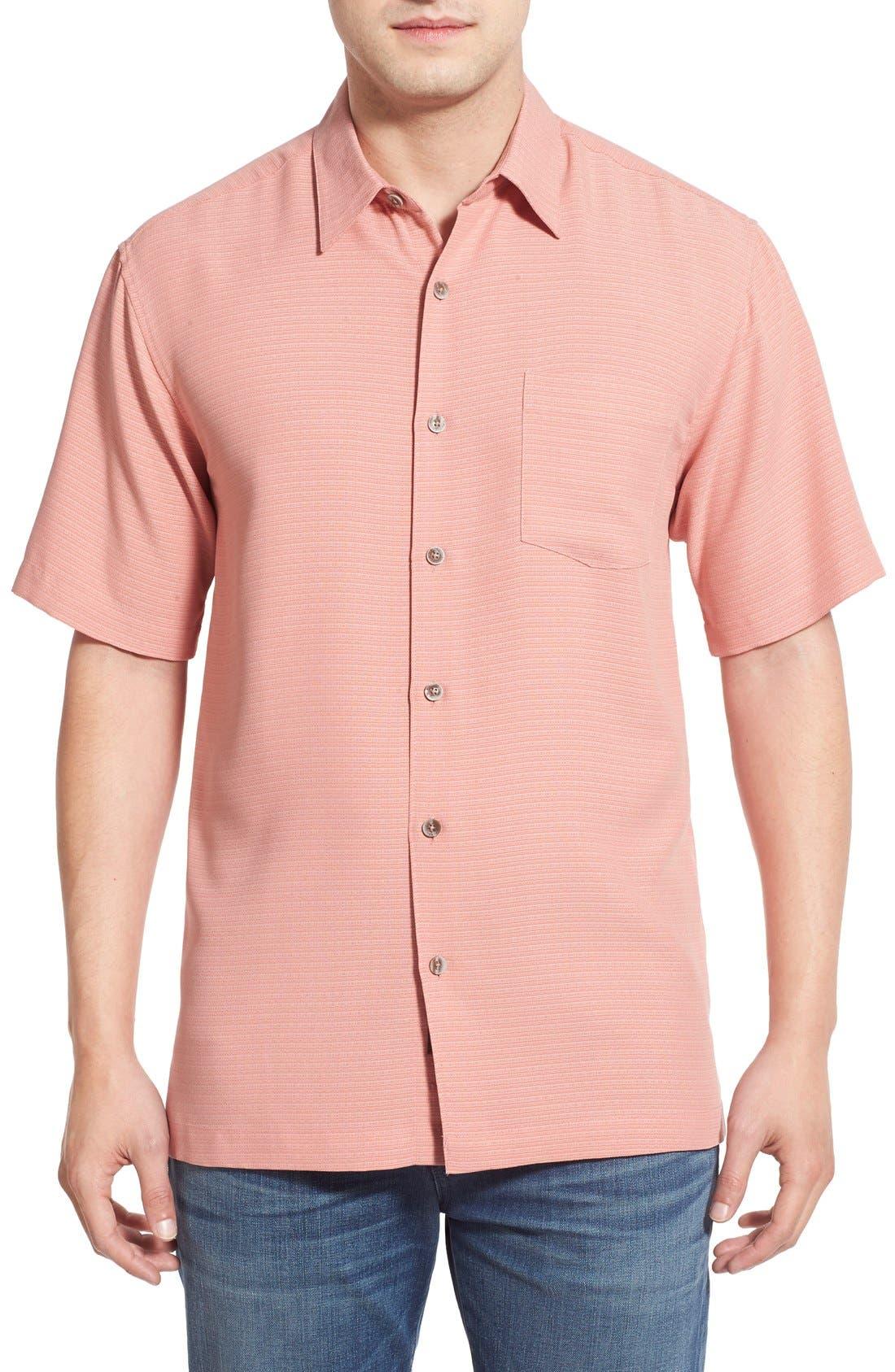 'Wind N Sea' Regular Fit Sport Shirt,                         Main,                         color, Coral