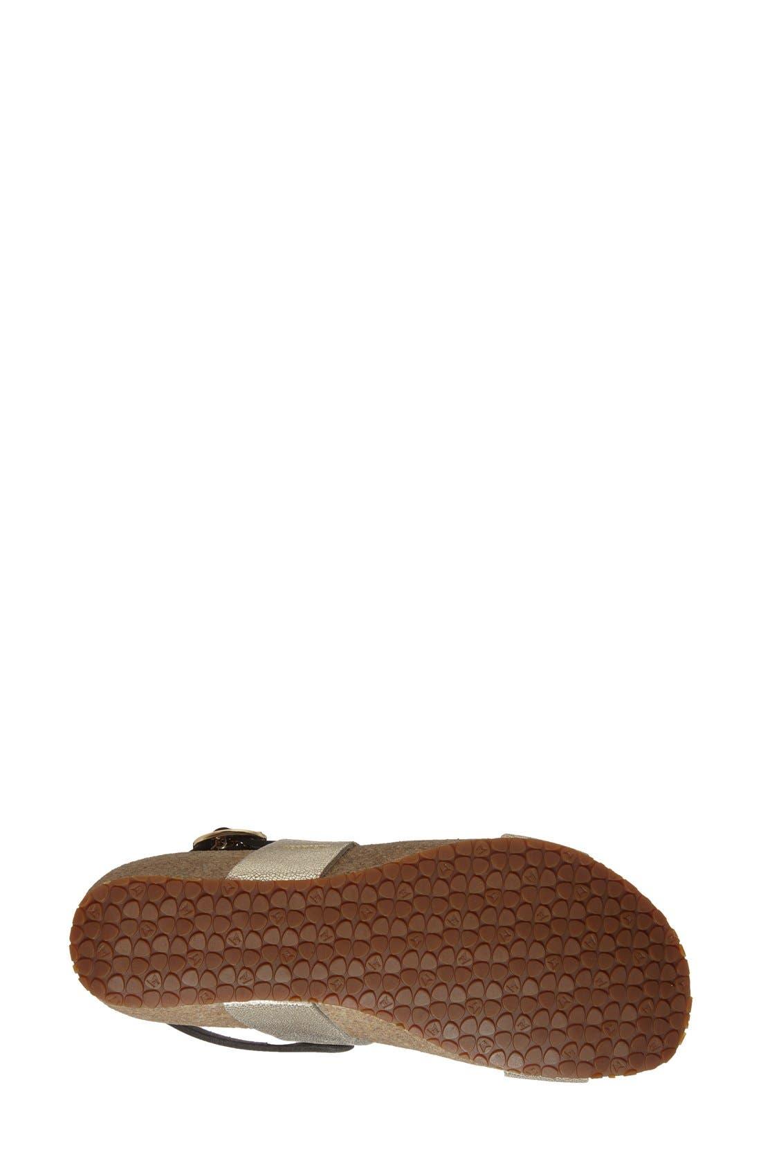 'Italia' Sandal,                             Alternate thumbnail 4, color,                             Platinum Leather