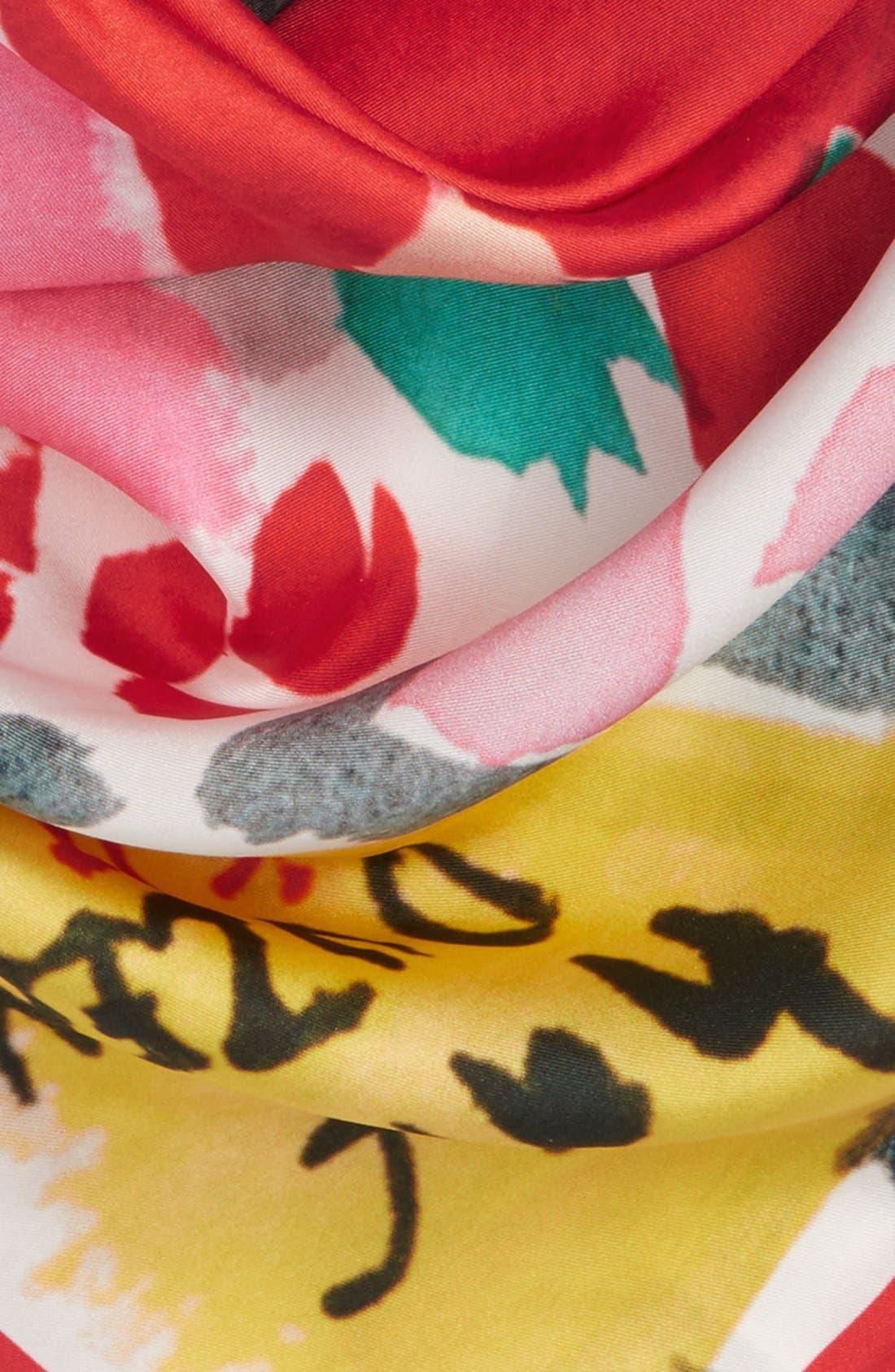 Alternate Image 3  - kate spade new york 'bella' silk square scarf