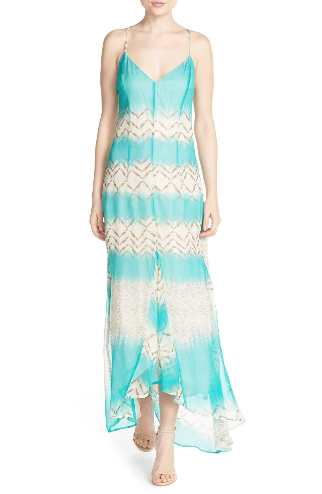 Main Image - Charlie Jade Print Silk Chiffon Maxi Dress