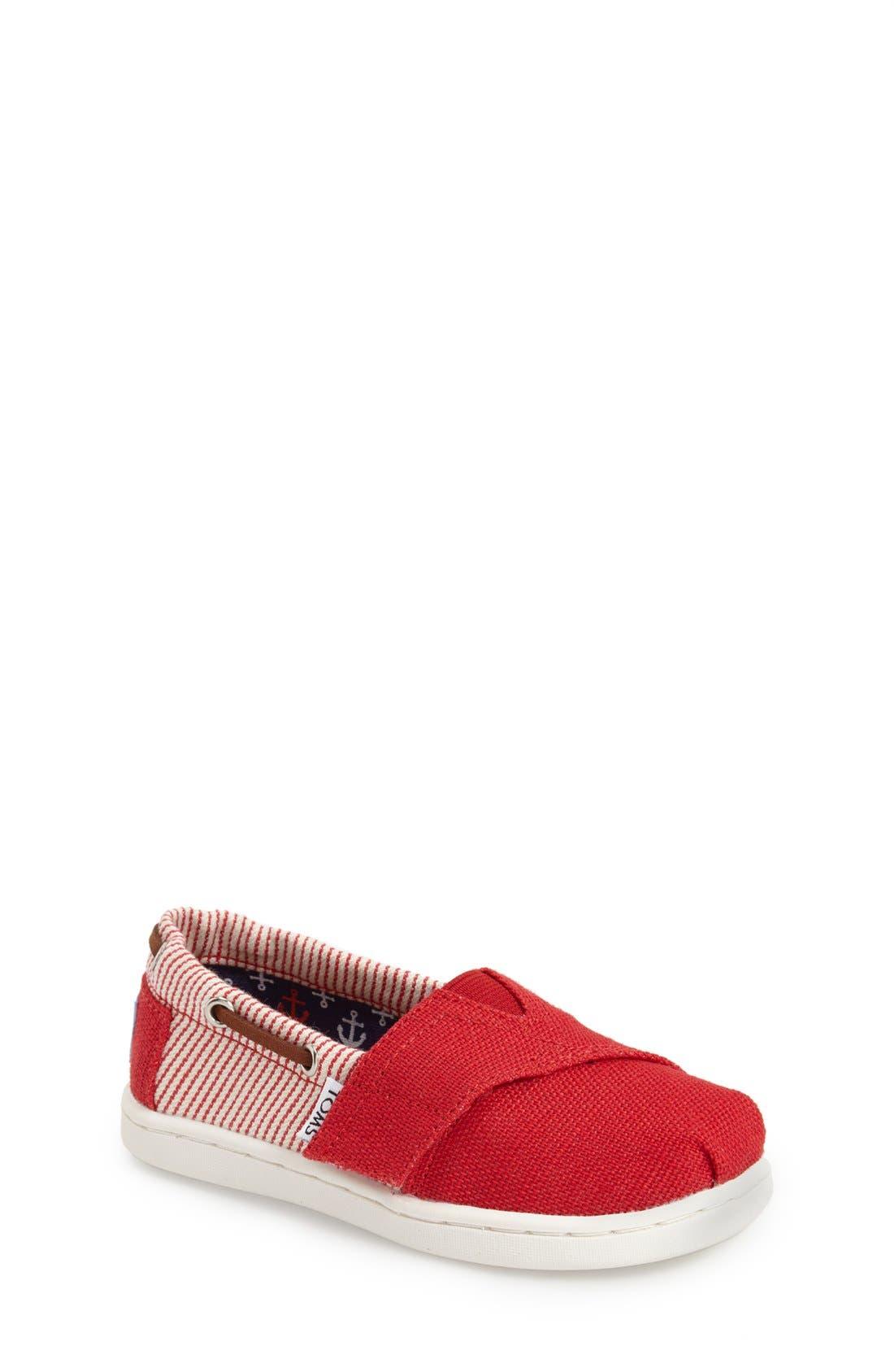 'Bimini - Tiny' Slip-On,                             Main thumbnail 1, color,                             Medium Red