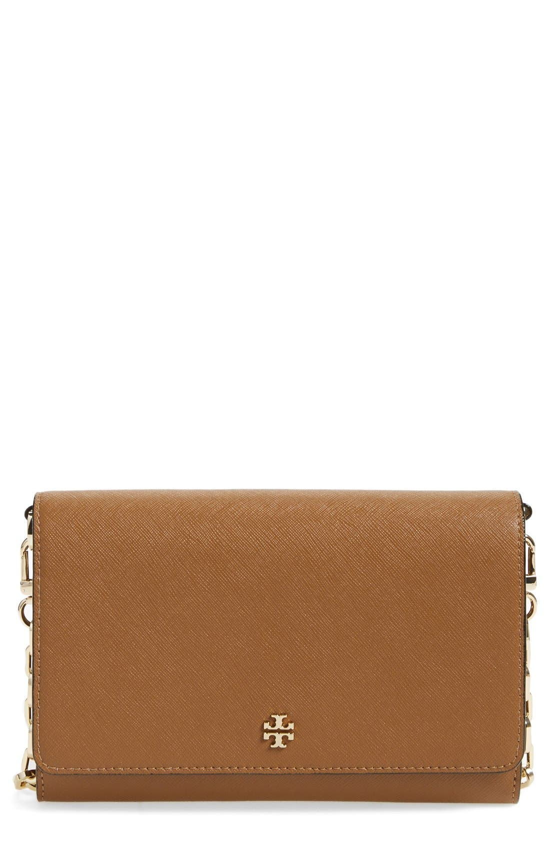 'Robinson' Leather Wallet on a Chain,                             Main thumbnail 1, color,                             Tiger Eye