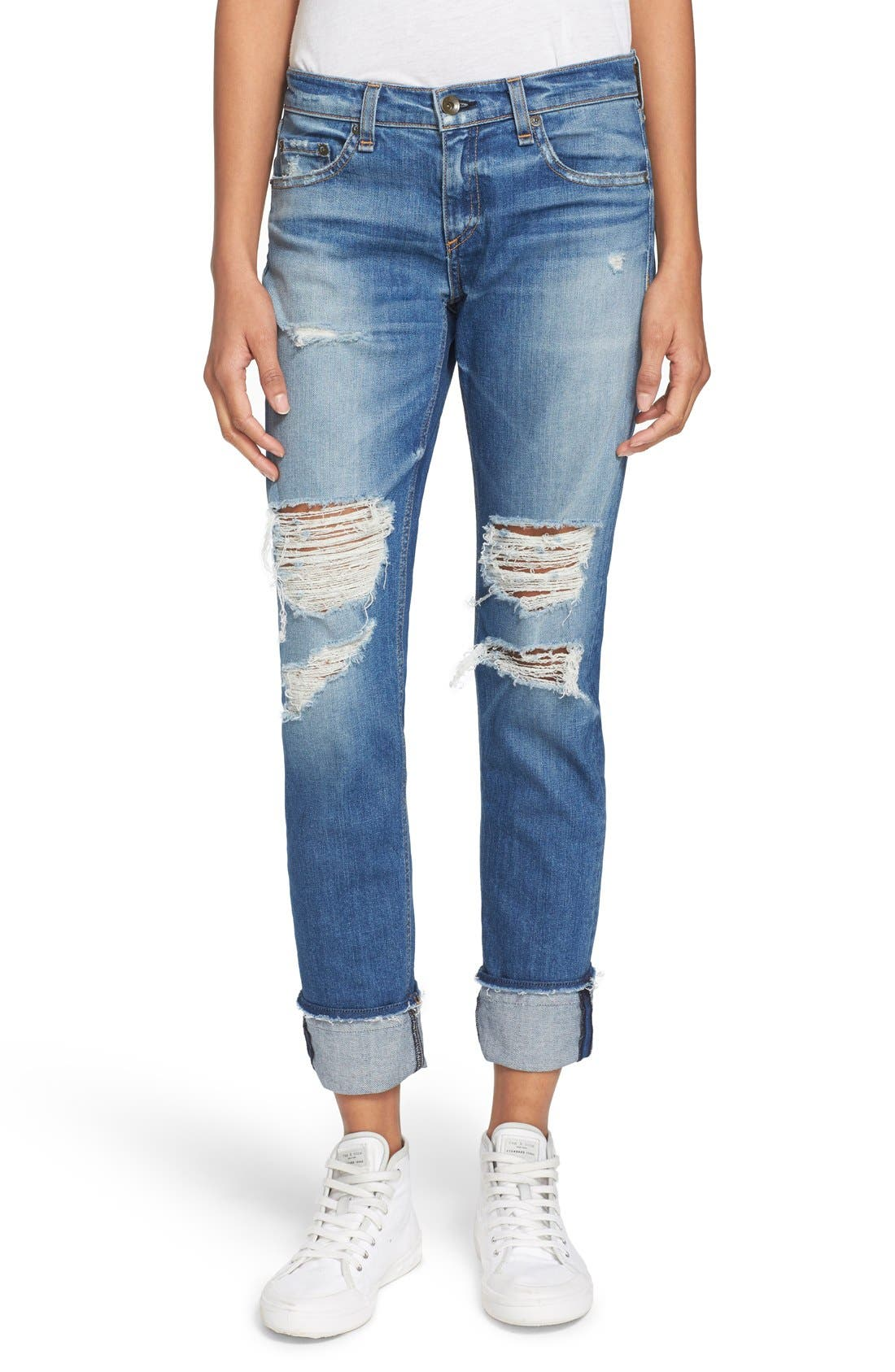 'The Dre' Slim Fit Boyfriend Jeans,                         Main,                         color, Kennedy