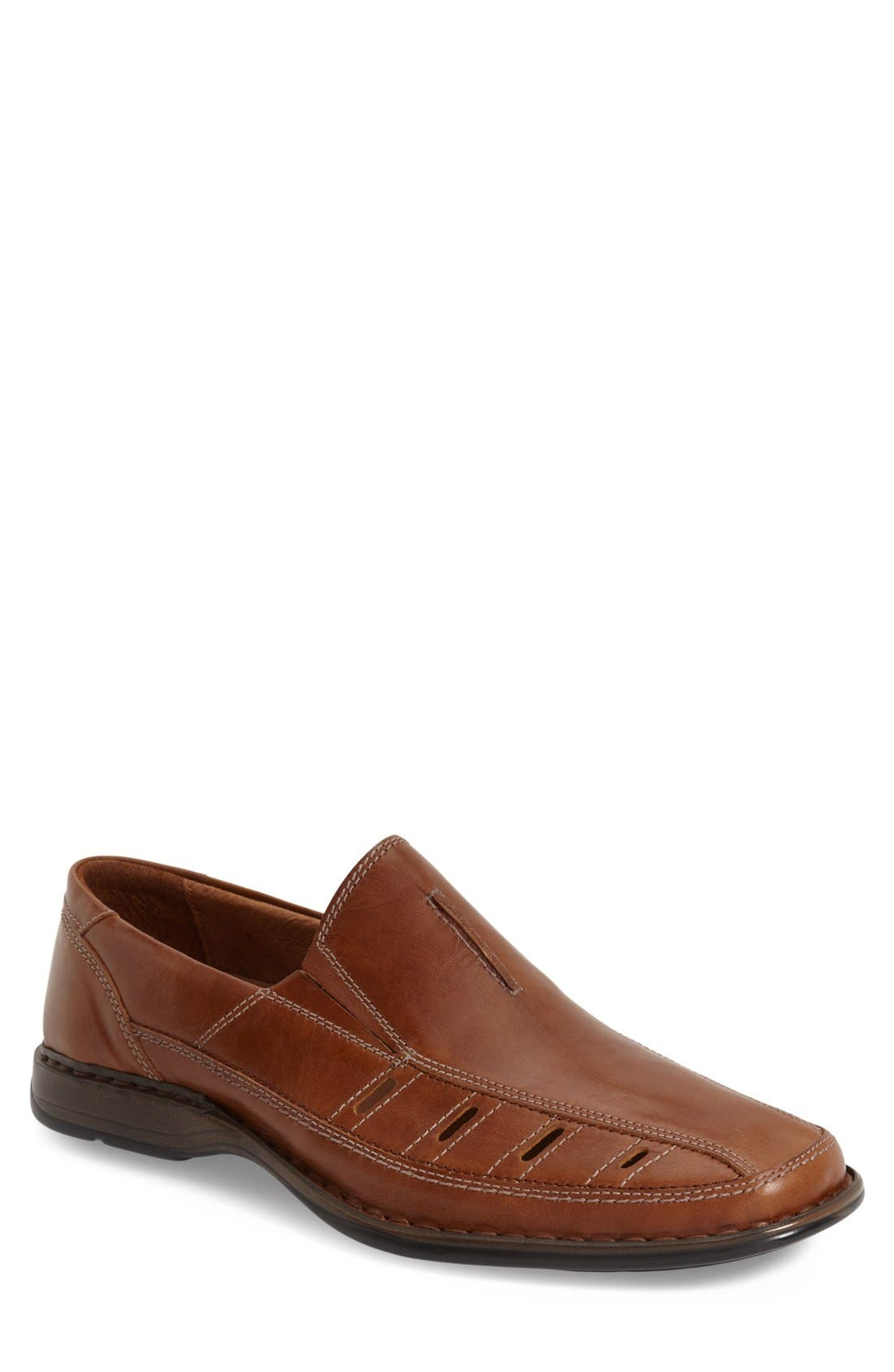 'Steven' Slip On,                         Main,                         color, Nuss Roma Brown Leather