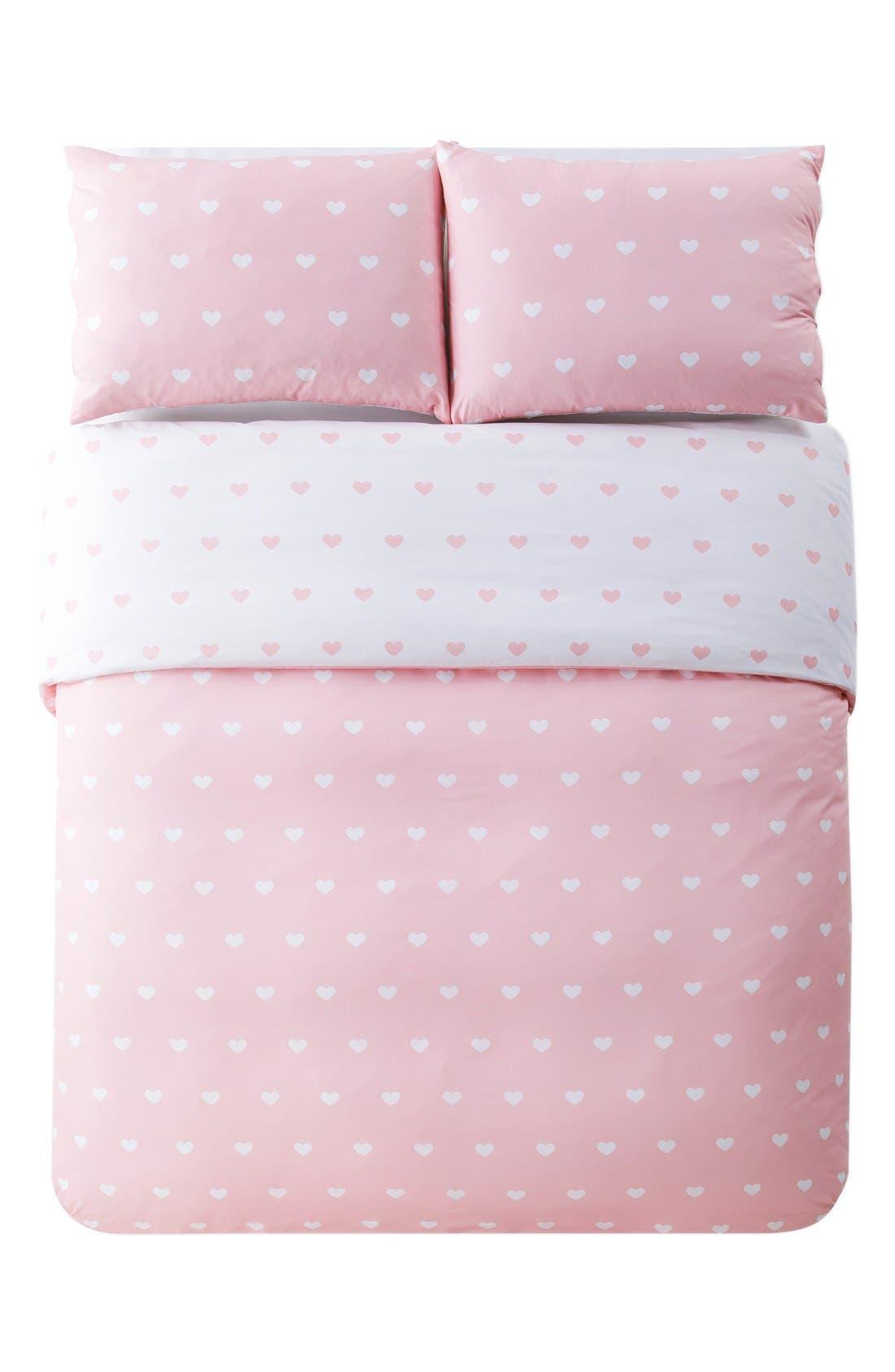 Alternate Image 1 Selected - LALA + BASH 'Kelly' Heart Print Comforter Set