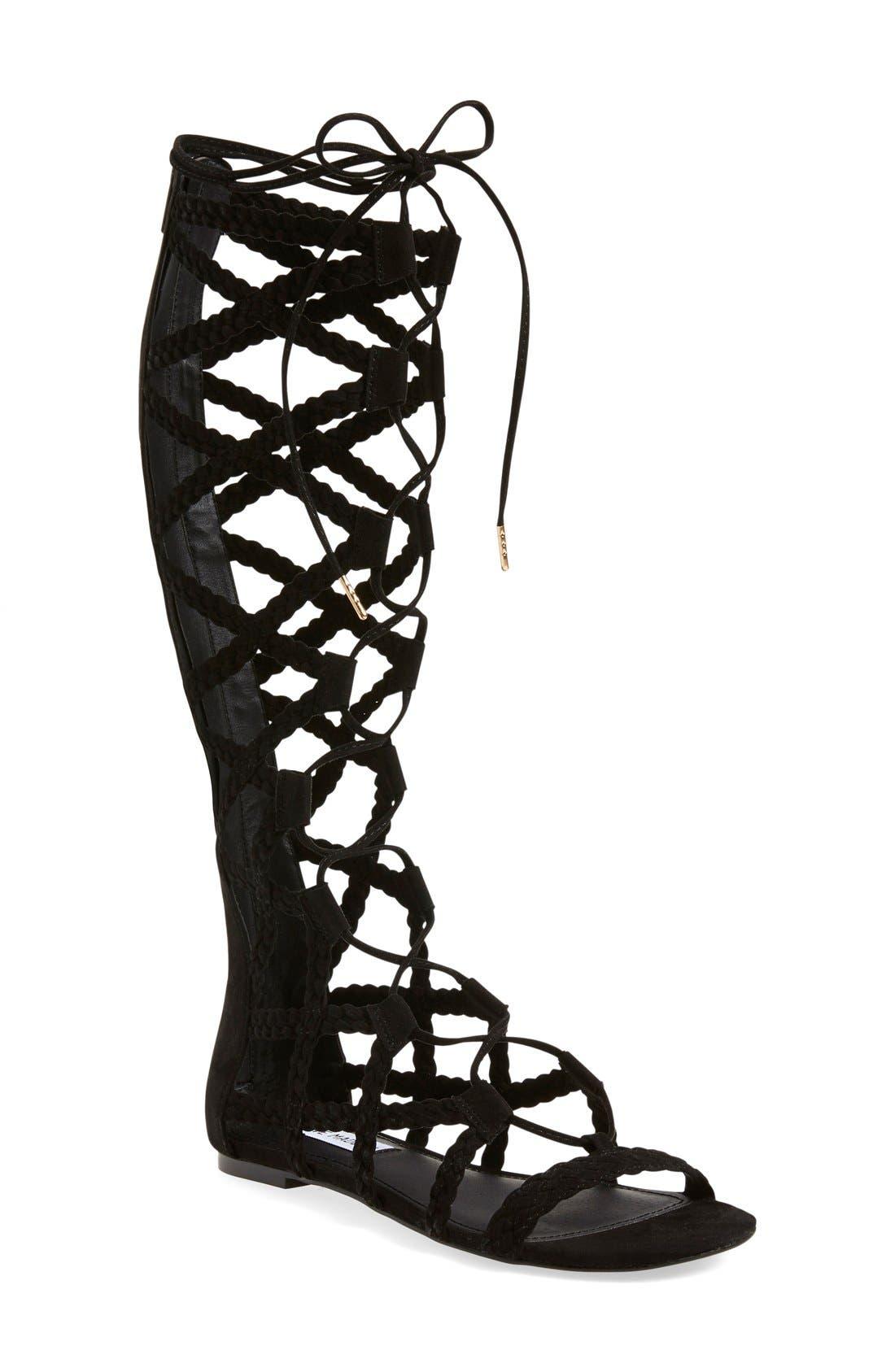 Alternate Image 1 Selected - Steve Madden 'Sammson' Lace-Up Gladiator Sandal (Women)