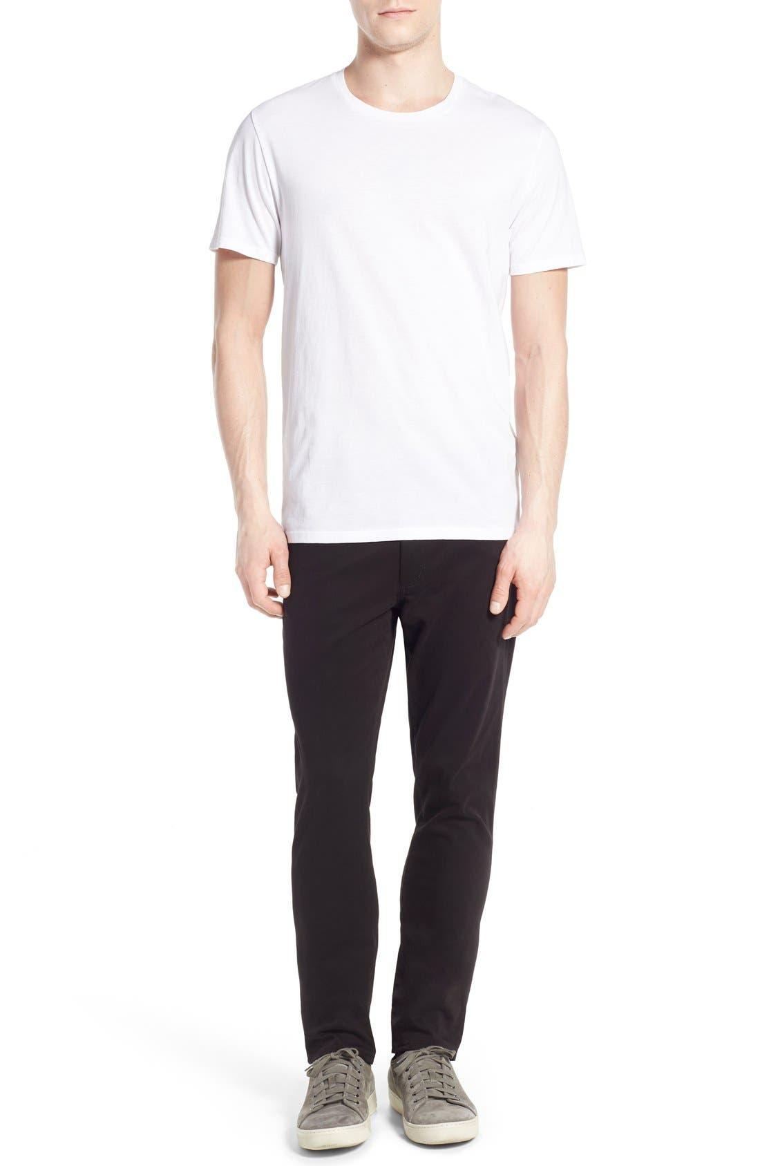 Crewneck T-Shirt,                             Alternate thumbnail 6, color,                             Optic White