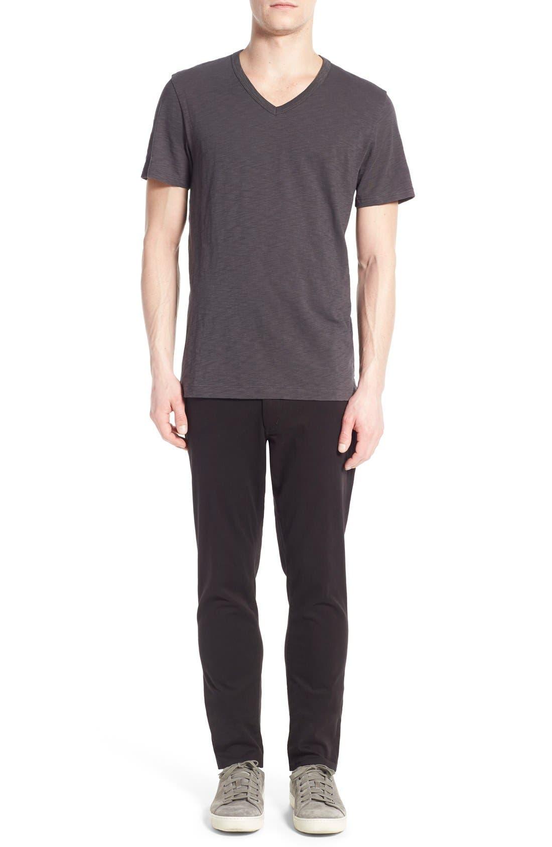 Slub V-Neck T-Shirt,                             Alternate thumbnail 6, color,                             Sphere