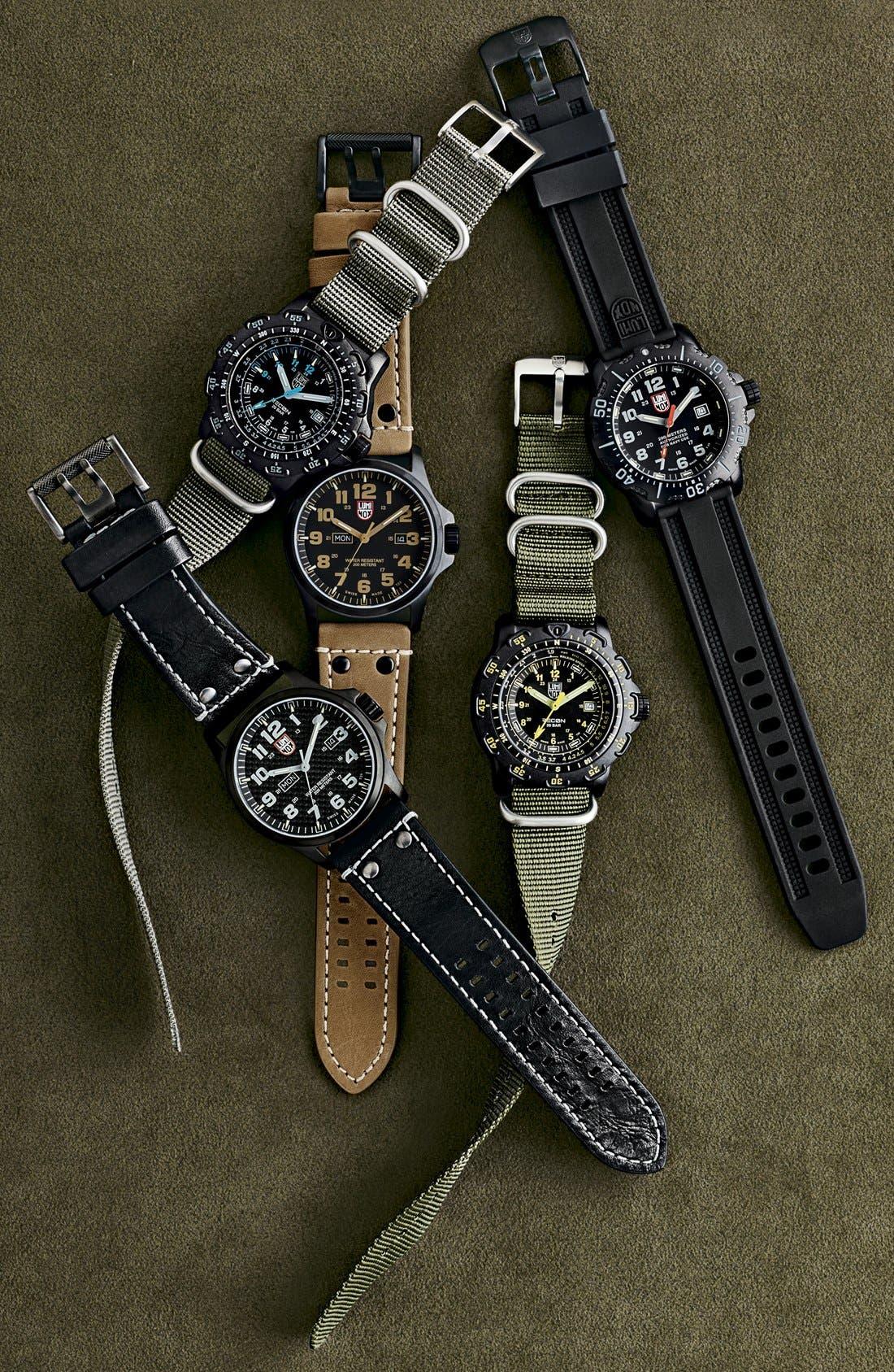 Alternate Image 6  - Luminox 'Sea - ANU' Polyurethane Strap Watch, 45mm