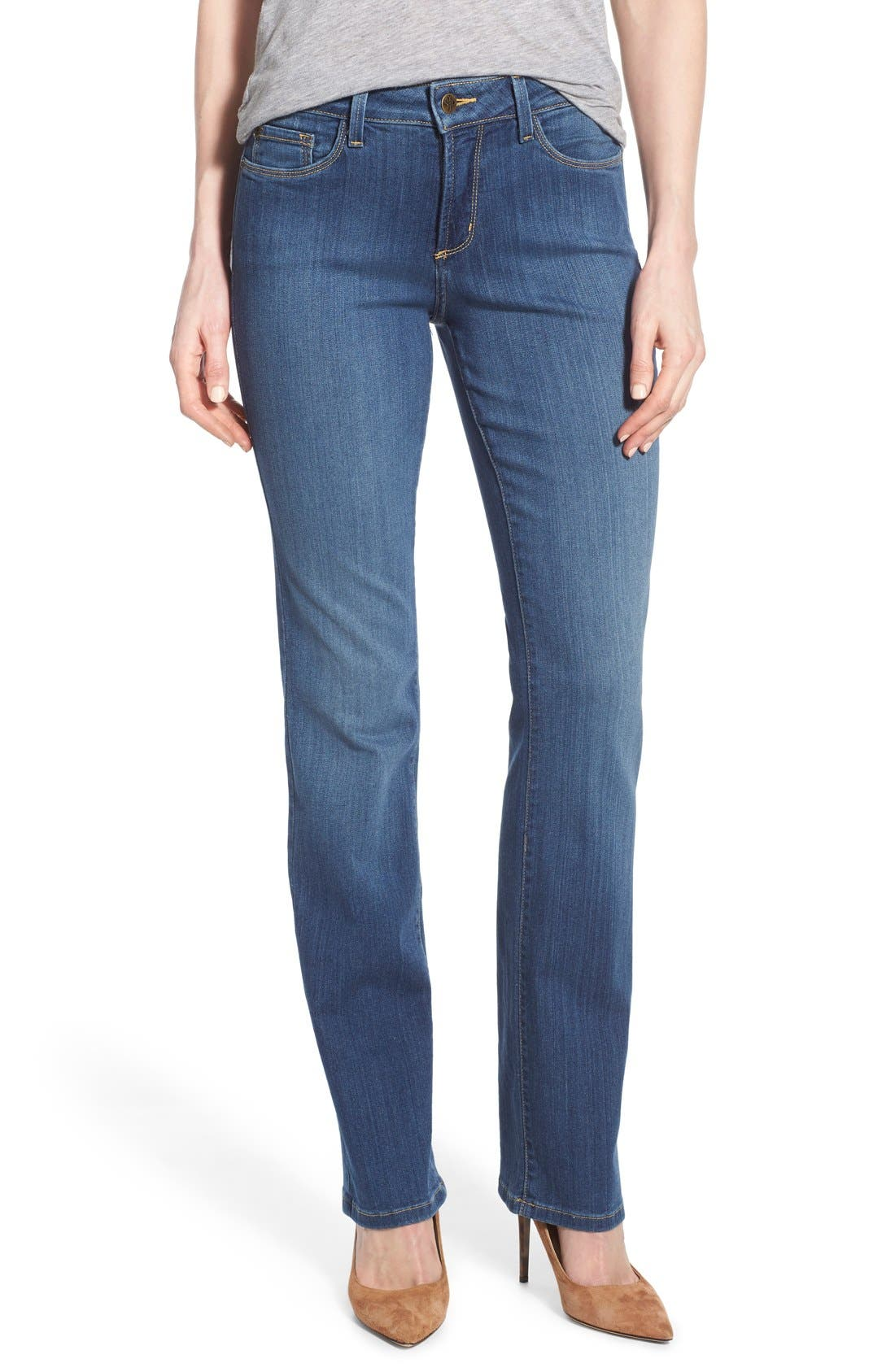 'Marilyn' Stretch Straight Leg Jeans,                             Main thumbnail 1, color,                             Anderson
