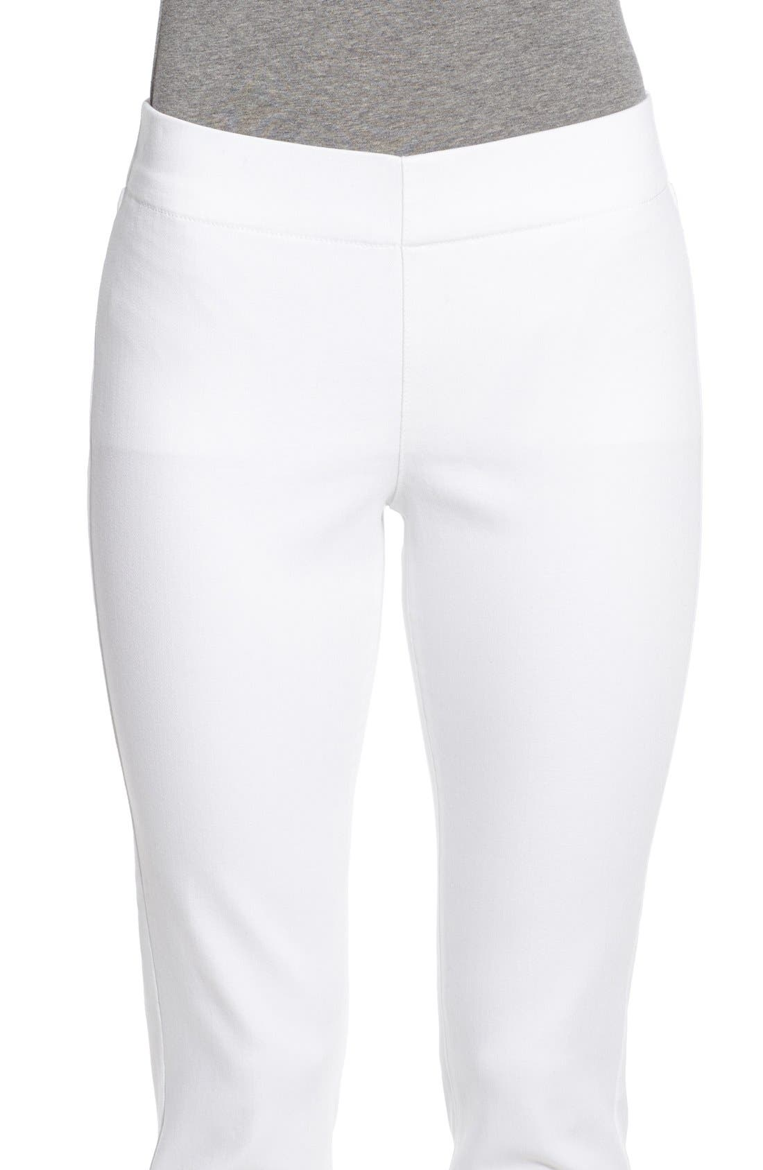 'Millie' Pull-On Stretch Ankle Skinny Jeans,                             Alternate thumbnail 4, color,                             Endless White