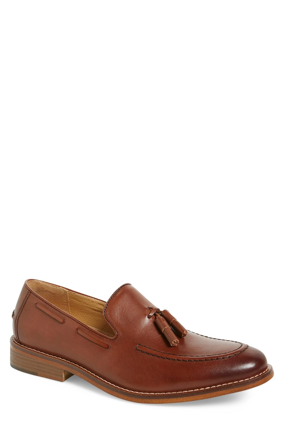 'Cooper' Tassel Loafer,                             Main thumbnail 1, color,                             Tan Leather