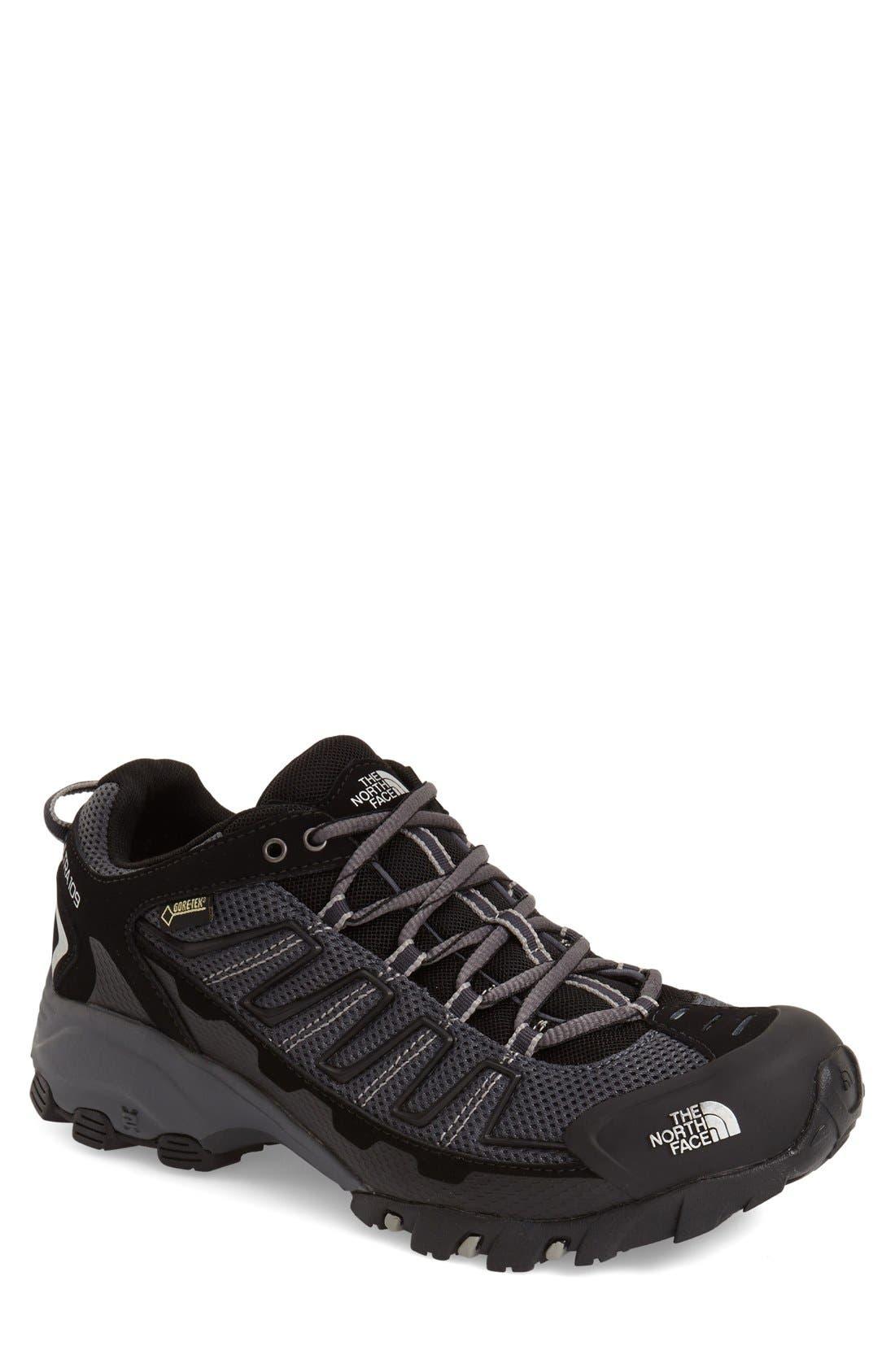 'Ultra 109 GTX' Waterproof Running Shoe,                             Main thumbnail 1, color,                             Black/ Dark Shadow Grey