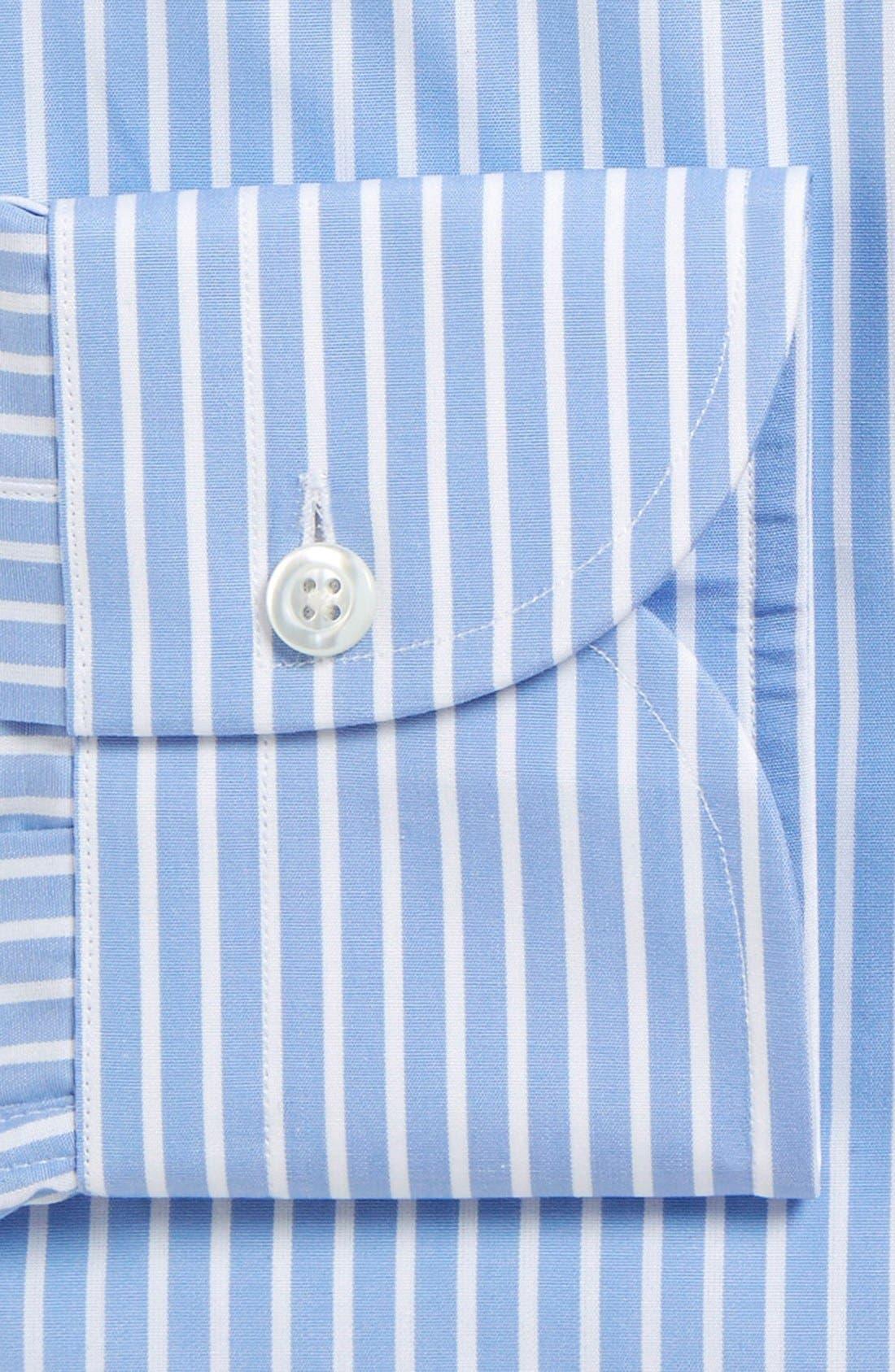 'Blue Banker' Slim Fit Stripe Dress Shirt,                             Alternate thumbnail 2, color,                             Blue