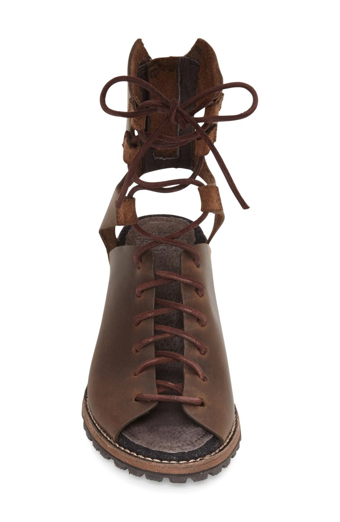 'Mohave Arroyo' Lace-Up Boot,                             Alternate thumbnail 3, color,                             Bitter Chocolate Leather