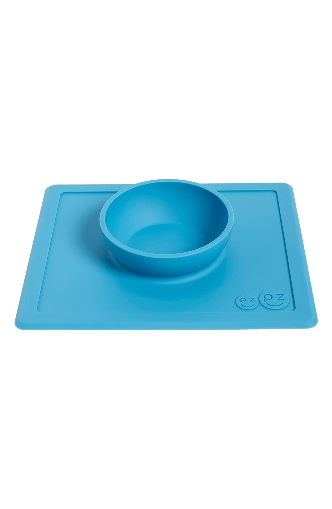'Happy Bowl' Silicone Feeding Mat,                             Alternate thumbnail 2, color,                             Blue