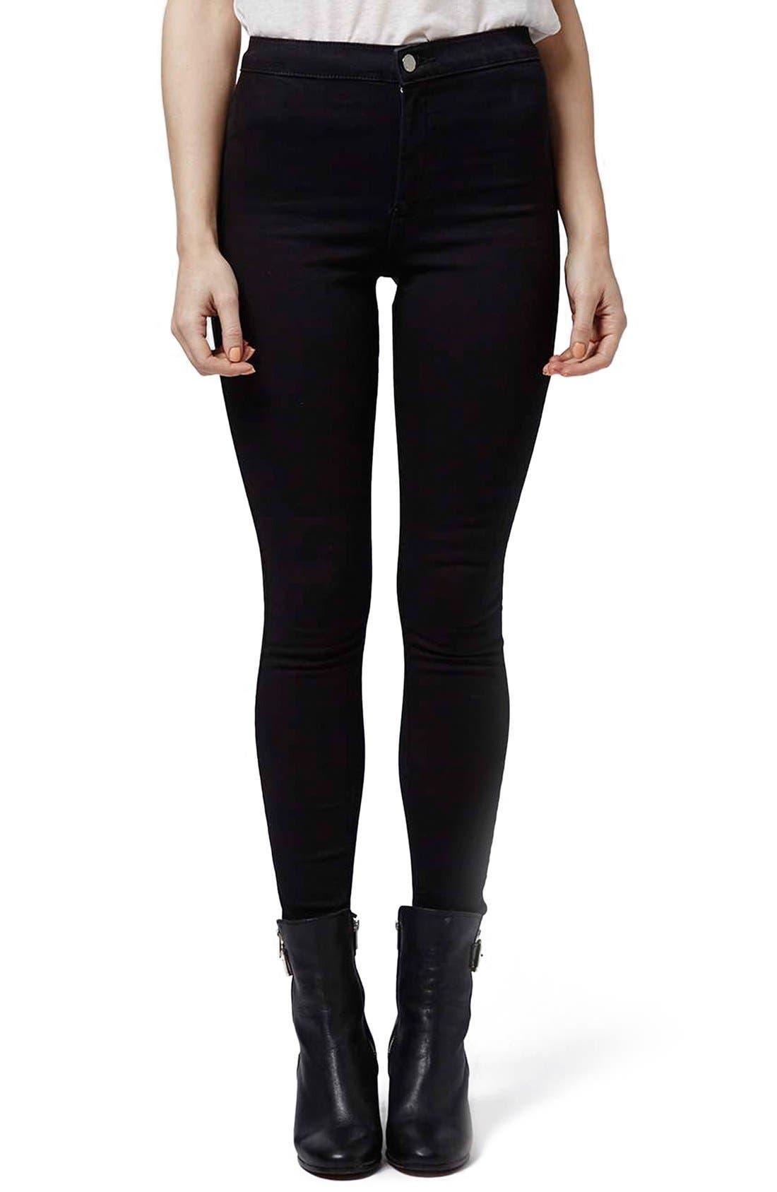 Alternate Image 1 Selected - Topshop 'Joni' High Rise Skinny Jeans (Petite)