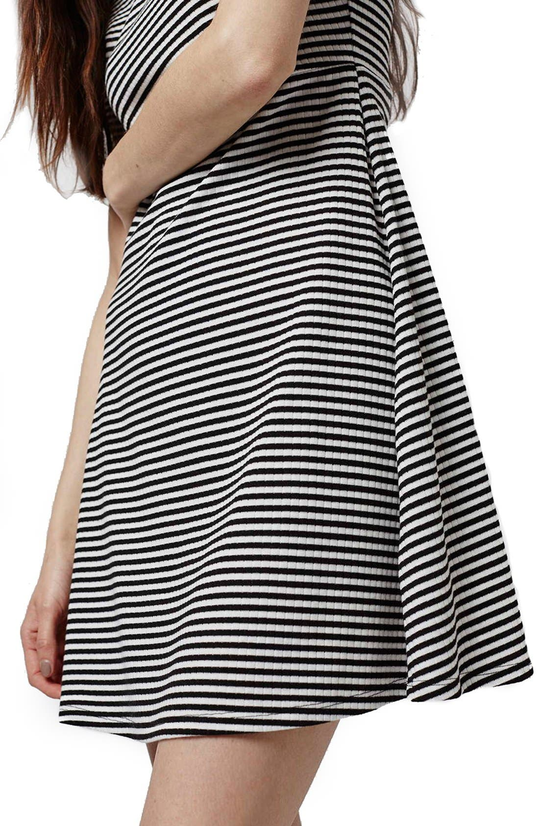 Alternate Image 5  - Topshop Stripe Flippy Dress (Petite)