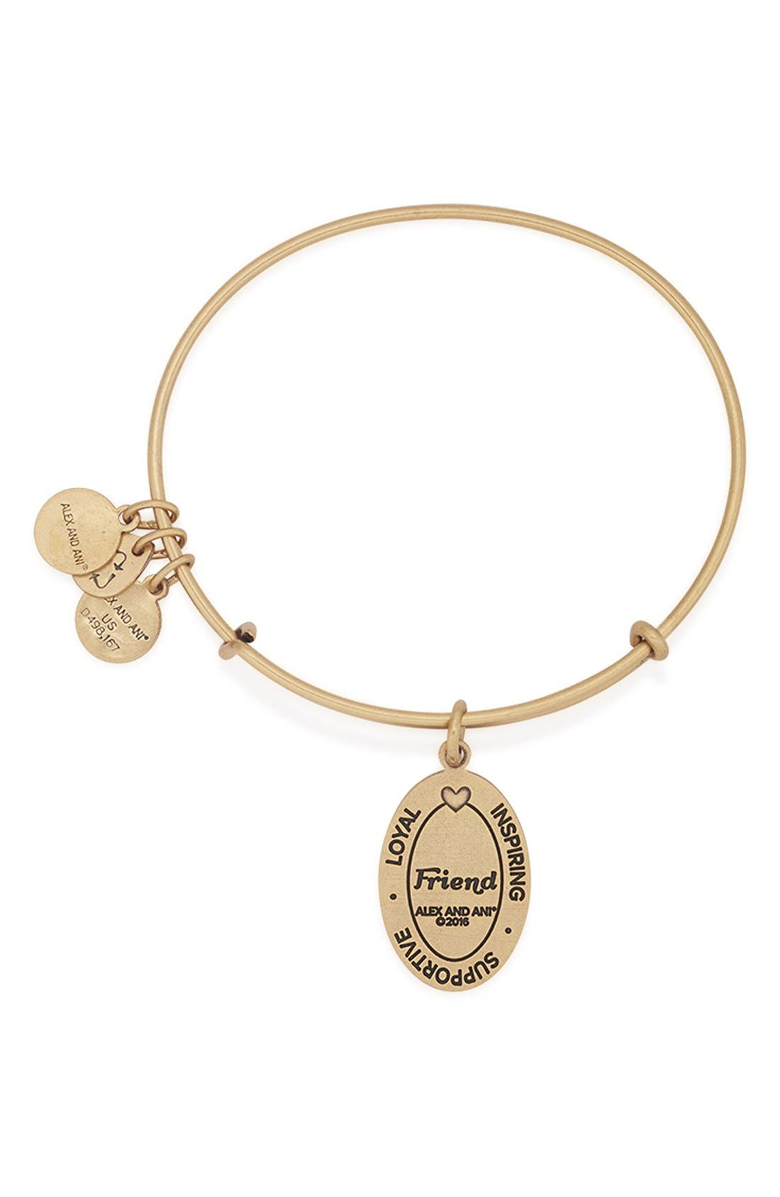 Alternate Image 3  - Alex and Ani 'I Love You Friend' Expandable Wire Bangle