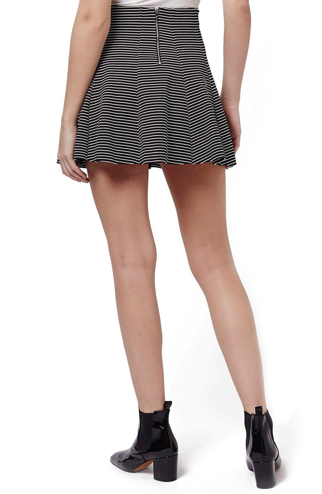 Alternate Image 3  - Topshop Stripe Flippy Skirt (Petite)