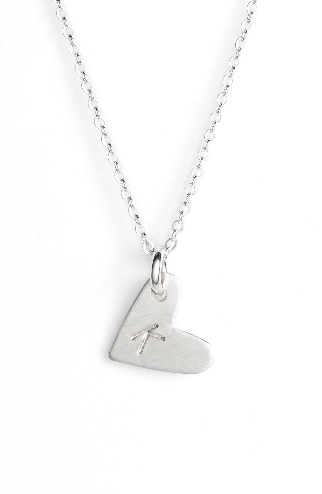 Nashelle Initial Heart Pendant Necklace