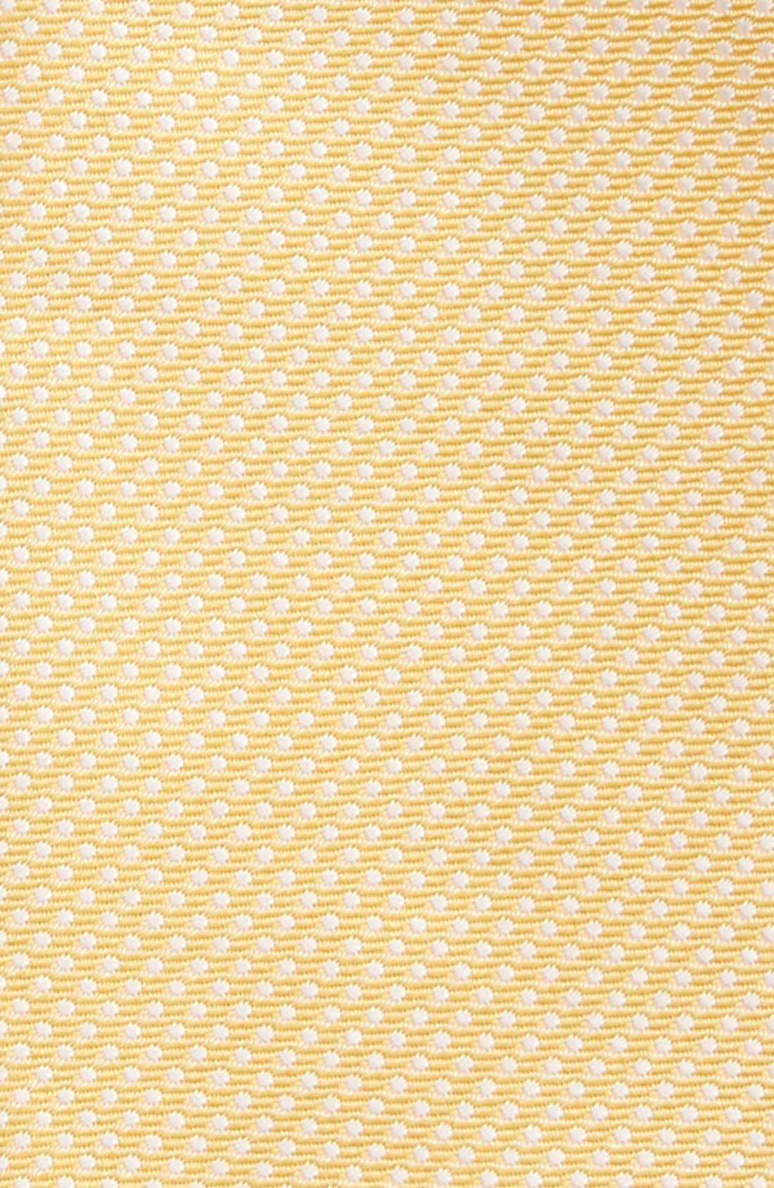 Dot Silk Bow Tie,                             Alternate thumbnail 2, color,                             Yellow