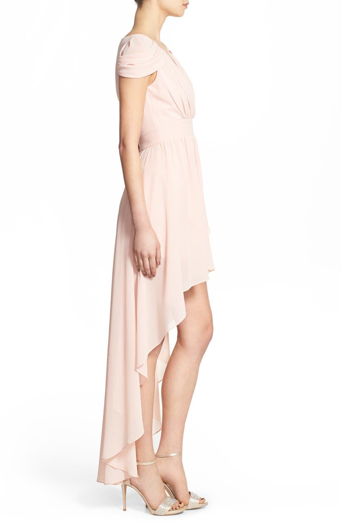 Alternate Image 3  - TFNC 'Hadie' High/Low Ruched Dress