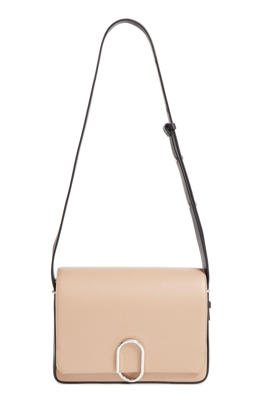 'Alix' Flap Shoulder Bag,                             Main thumbnail 1, color,                             Fawn