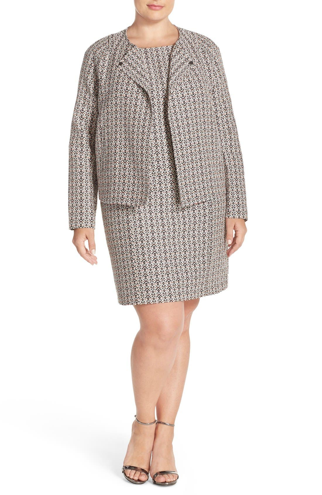 Alternate Image 3  - Tart 'Aviana' Print Collarless Jacket (Plus Size)