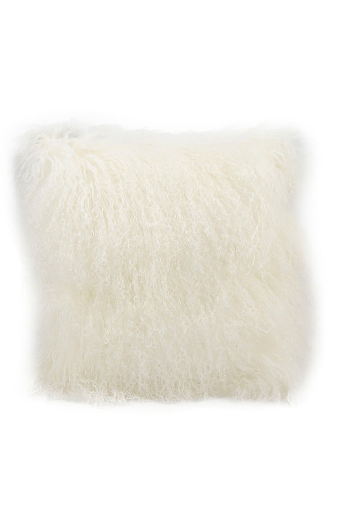 Mina Victory Genuine Tibetan Wool Shearling Pillow