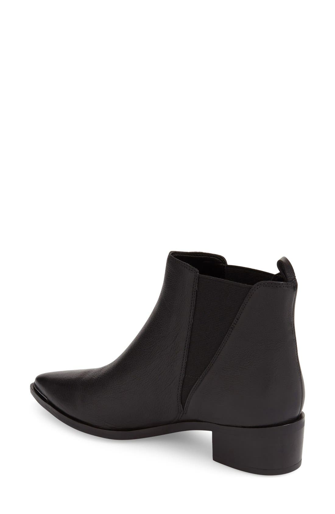 'Yale' Chelsea Boot,                             Alternate thumbnail 2, color,                             Black Leather