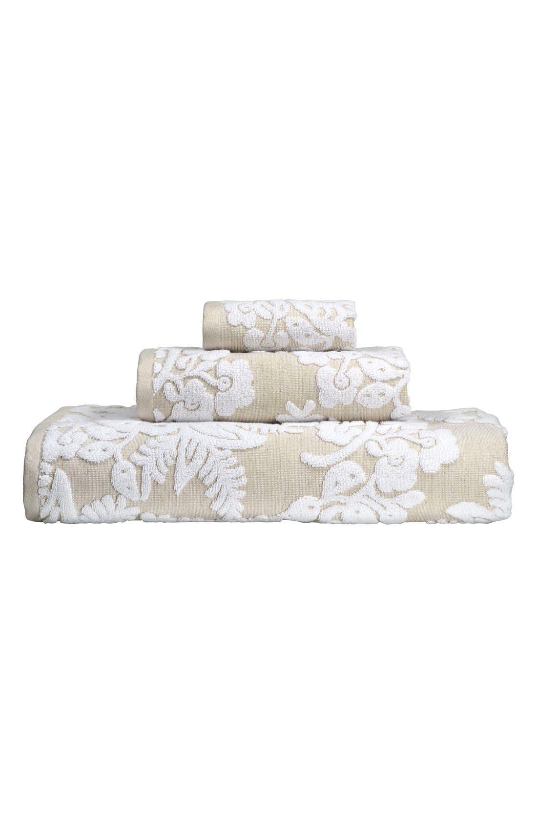 'Pasak' Bath Towel,                             Alternate thumbnail 2, color,                             Linen/ White
