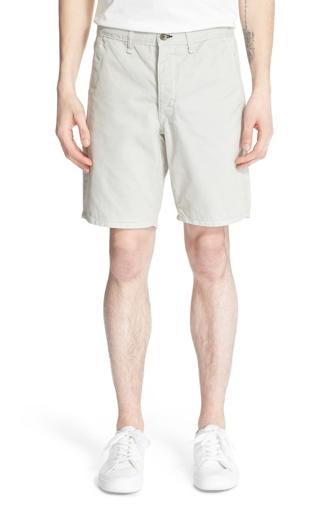 'Standard Issue' Cotton Shorts,                         Main,                         color, Pale Gray