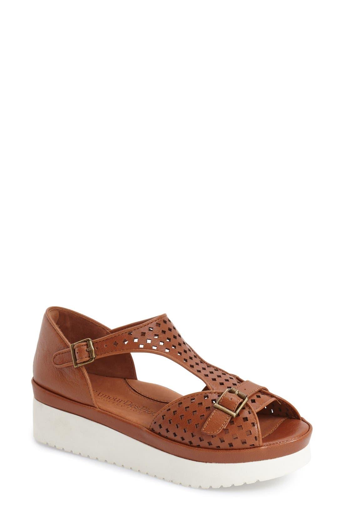L'Amour des Pieds 'Audric' Platform T-Strap Sandal (Women)